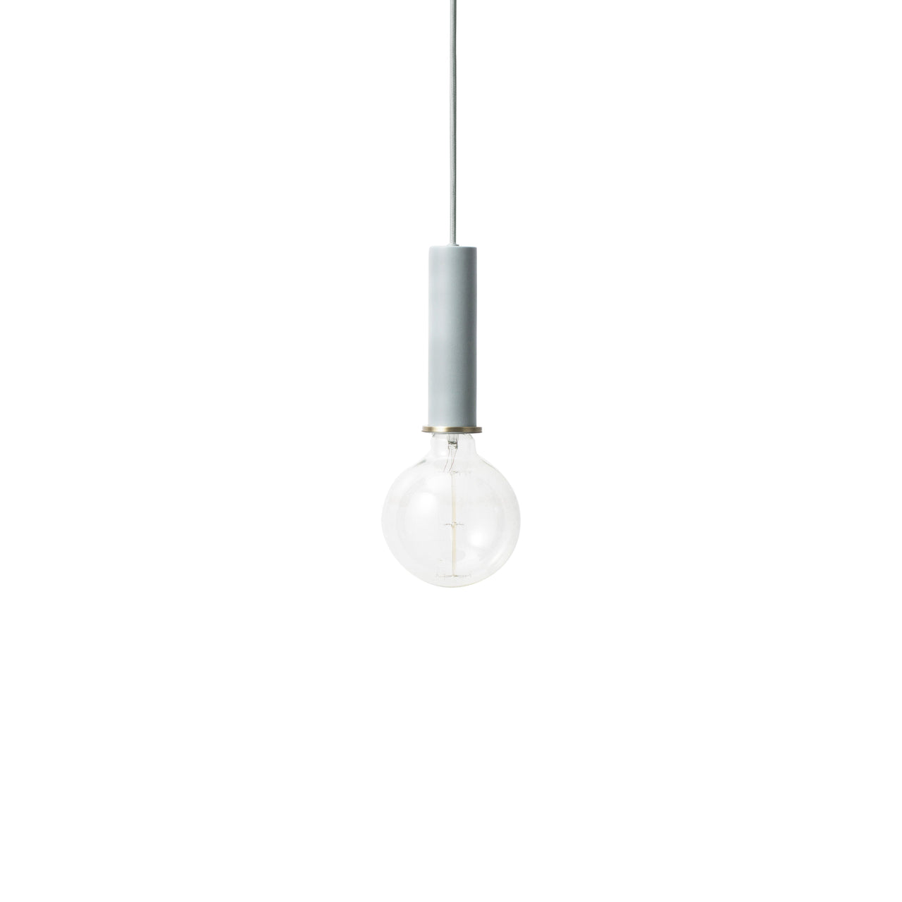 Collect Lighting: Pendant + High + Dusty Blue