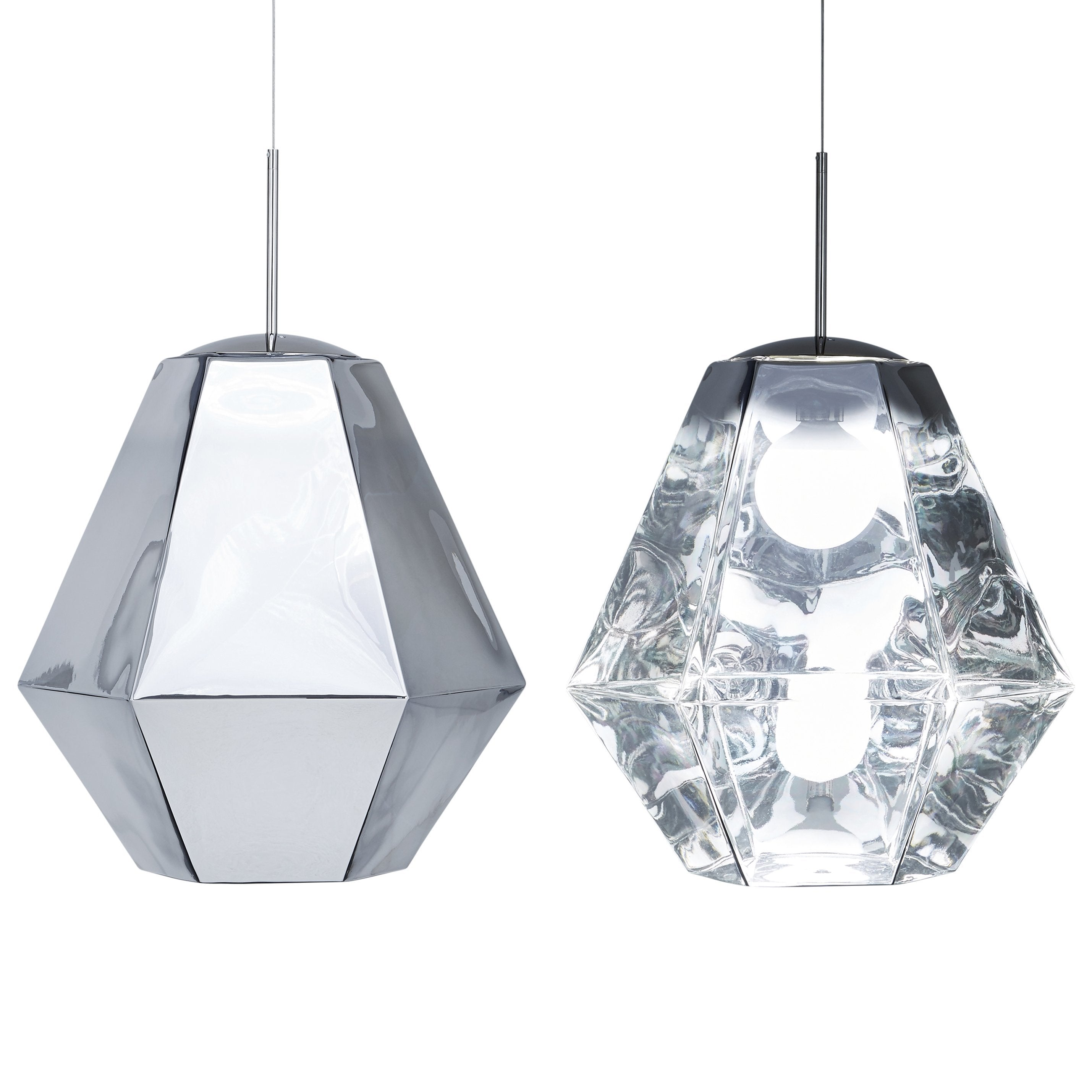Cut Pendant - Tall Chrome