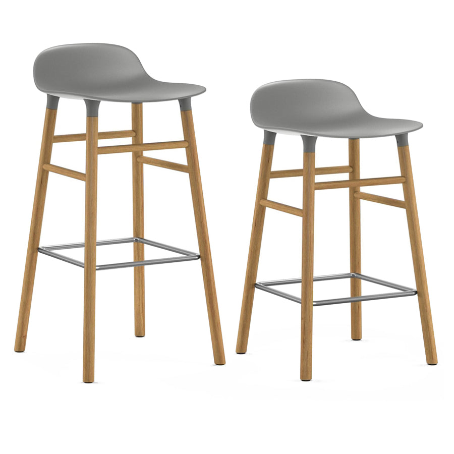 Form Bar + Counter Stool: Oak Legs