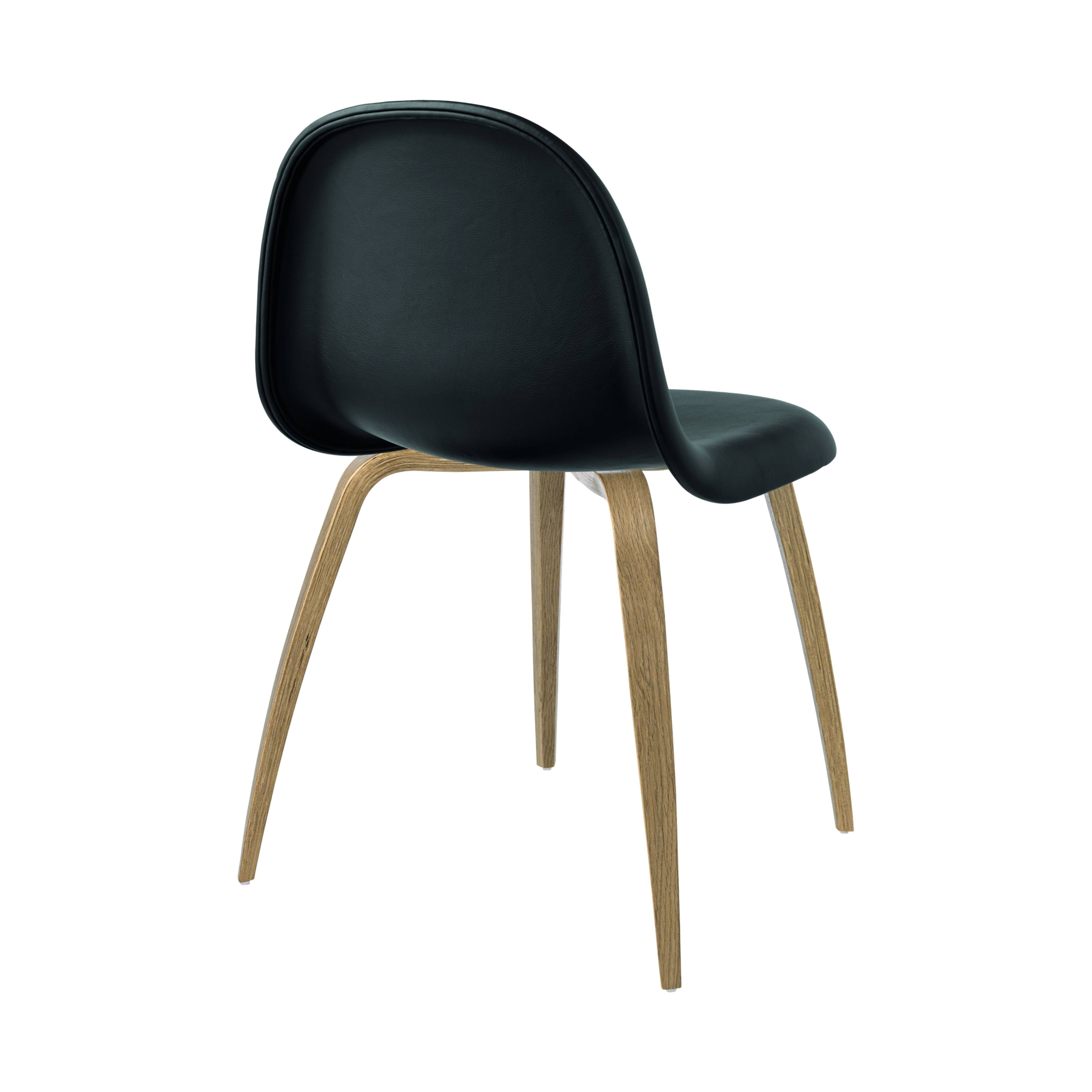 3D Dining Chair: Wood Base + Full Upholstery: Oak