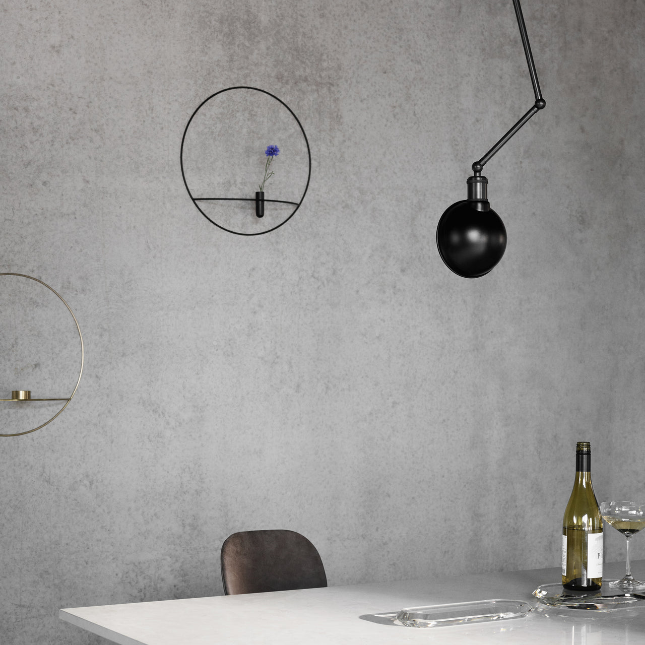 Tribeca Collection: Hudson Ceiling + Wall Lamp