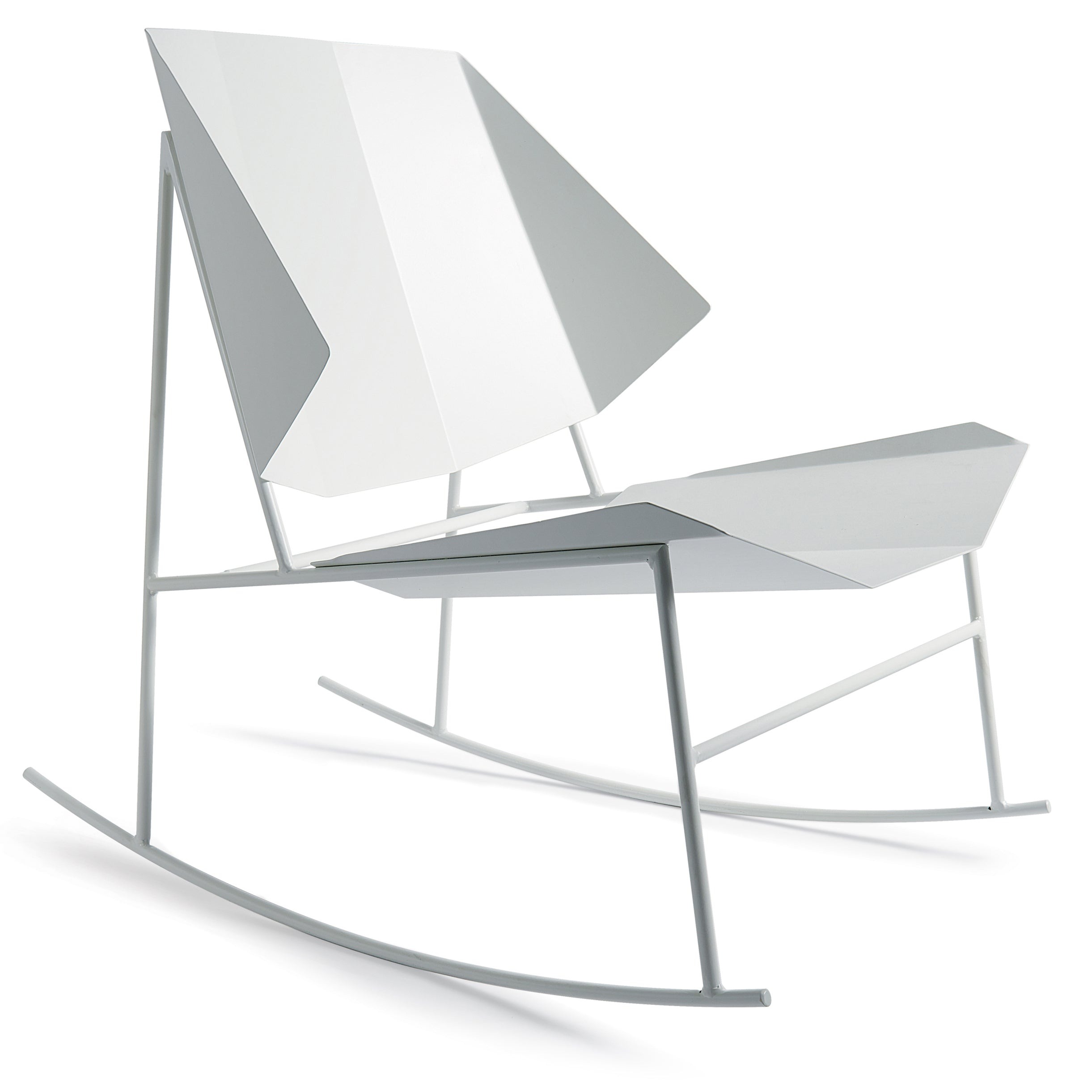 Terra Rocking Chair: Signal White
