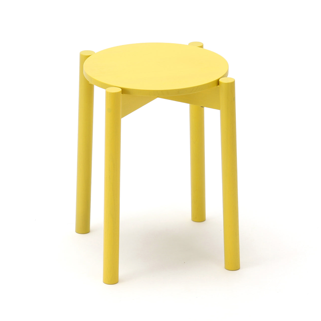 Castor Stool Plus: Lemon Yellow