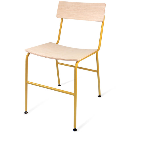 Nota Chair: Honey Yellow + Oak