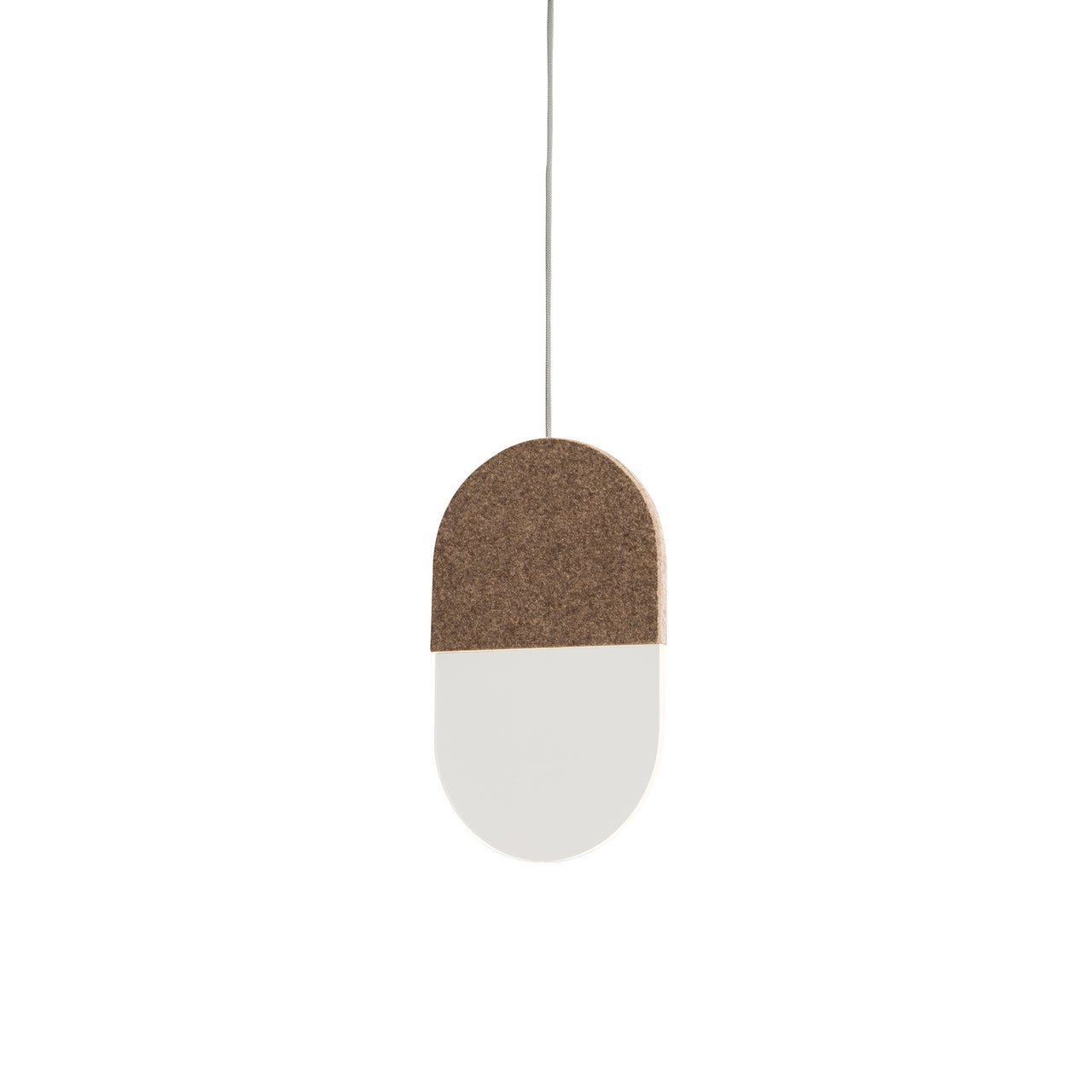 Slab Pendant Lights: 20 + Brown Wool