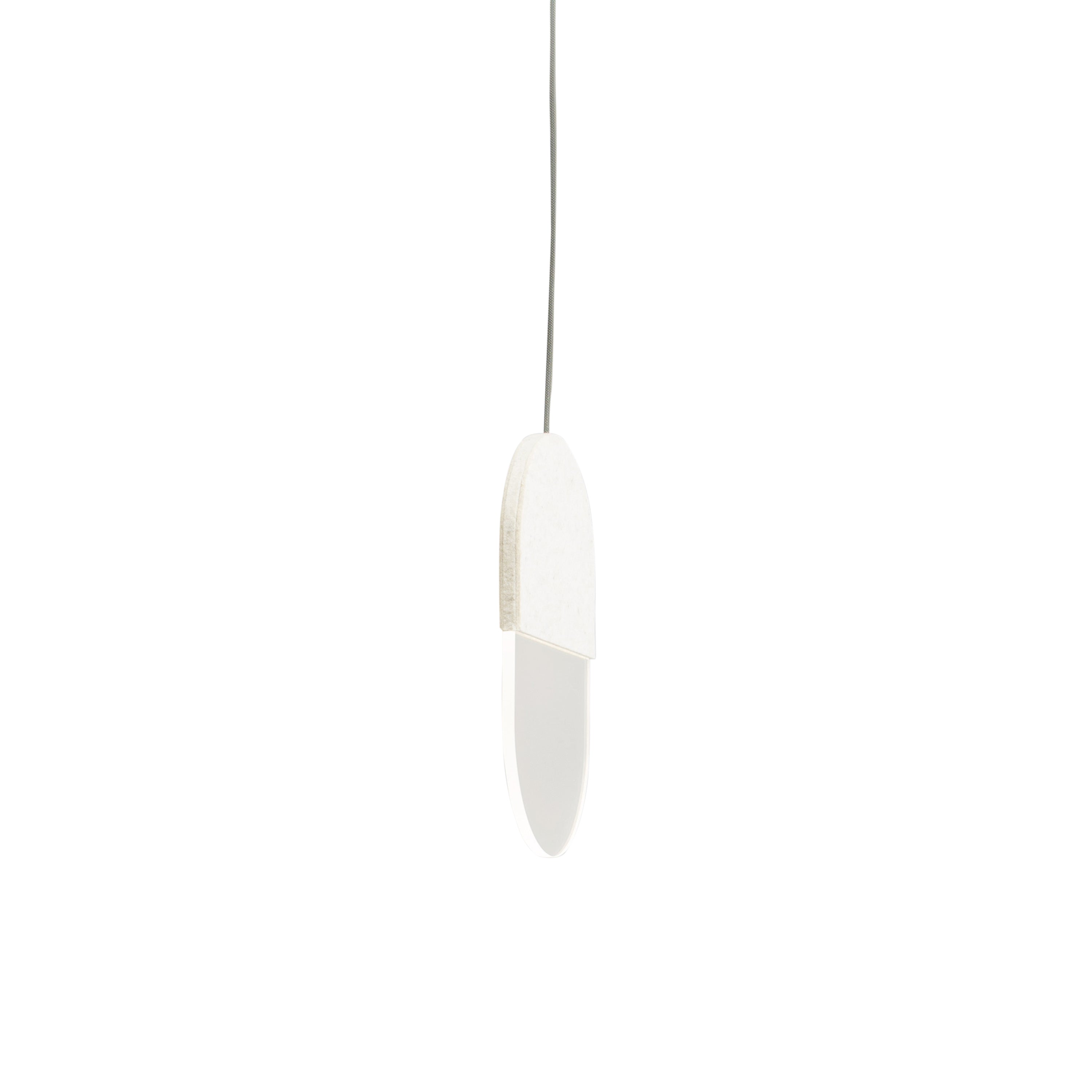 Slab Pendant Lights: 20 + White Wool