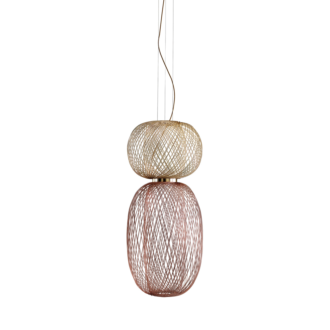 Anwar Combinations Hanging Lamp: Medium + Gold + Copper
