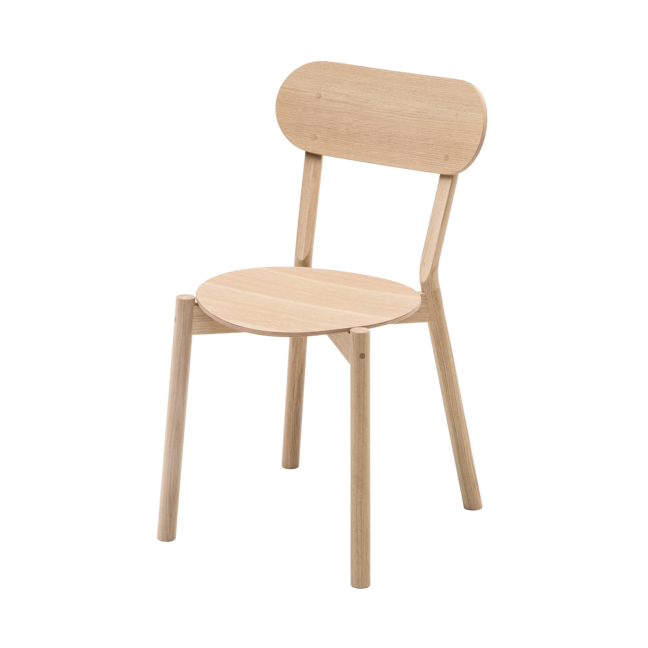 Castor Chair Plus: Pure Oak