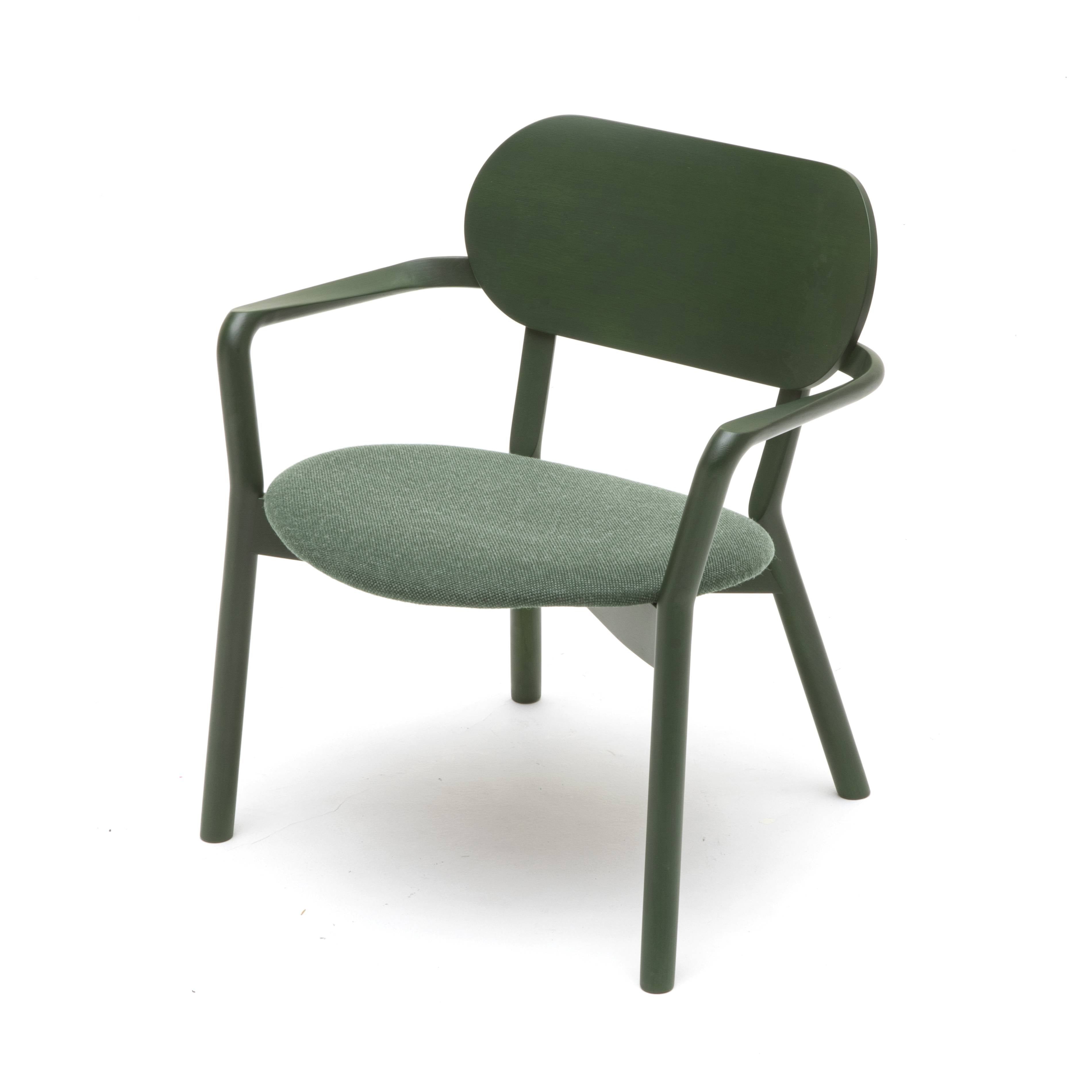 Castor Low Chair: Moss Green + With Pad