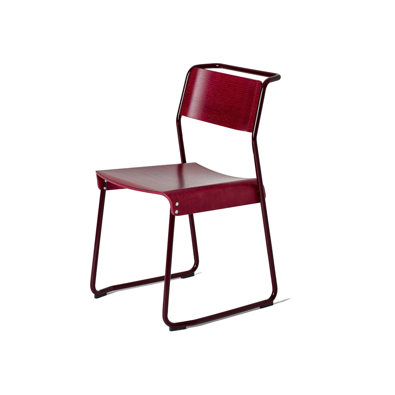 Canteen Utility Chair: Solid Colors + Black Red