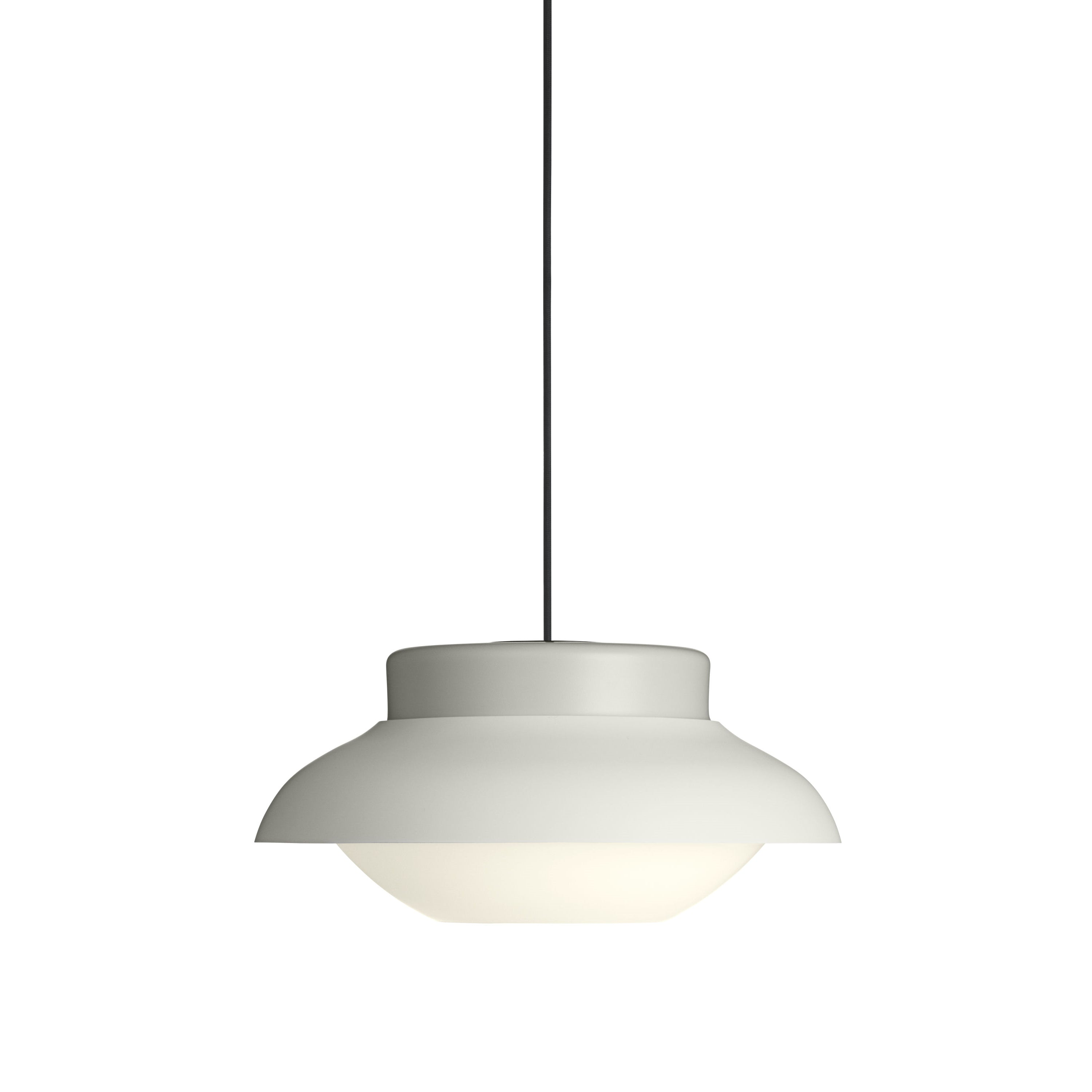 Collar Pendant Light: Large + Stone Grey
