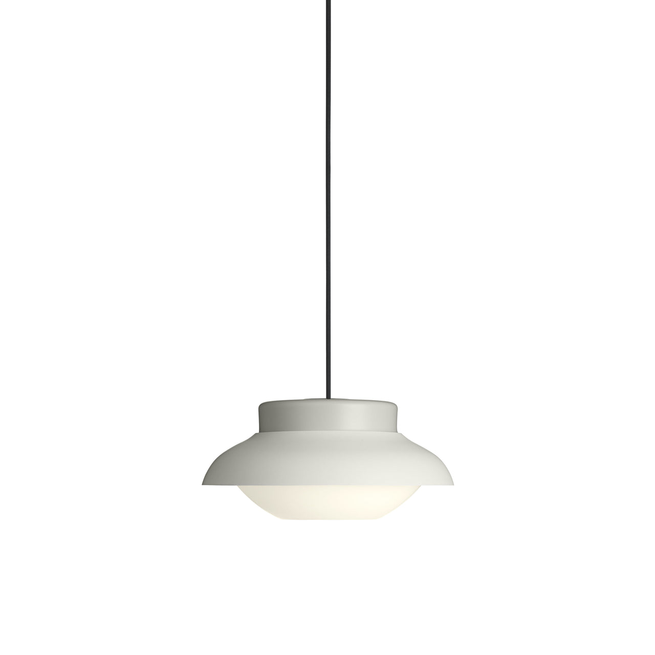 Collar Pendant Light: Small + Stone Grey