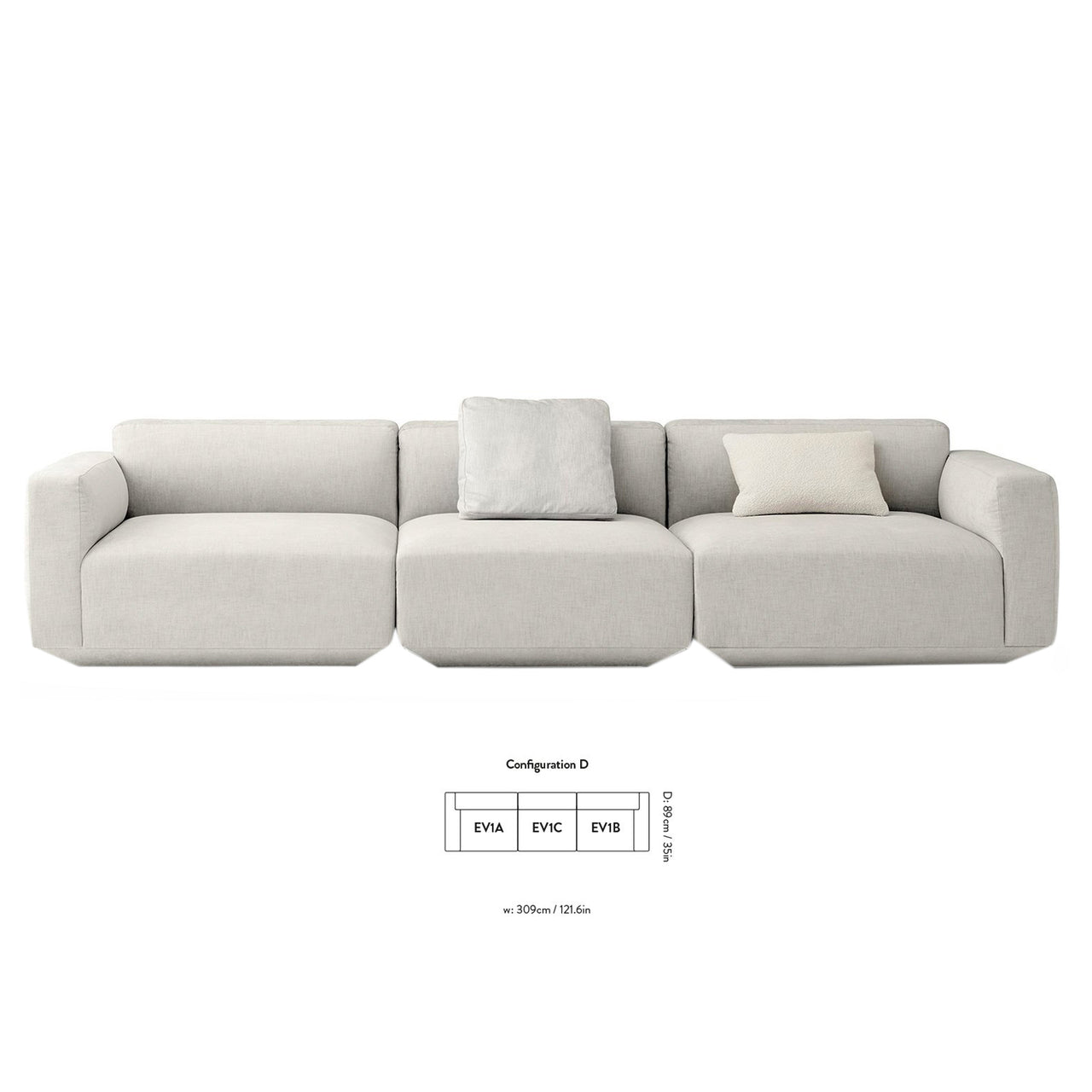 Develius Sofa - Configuration D