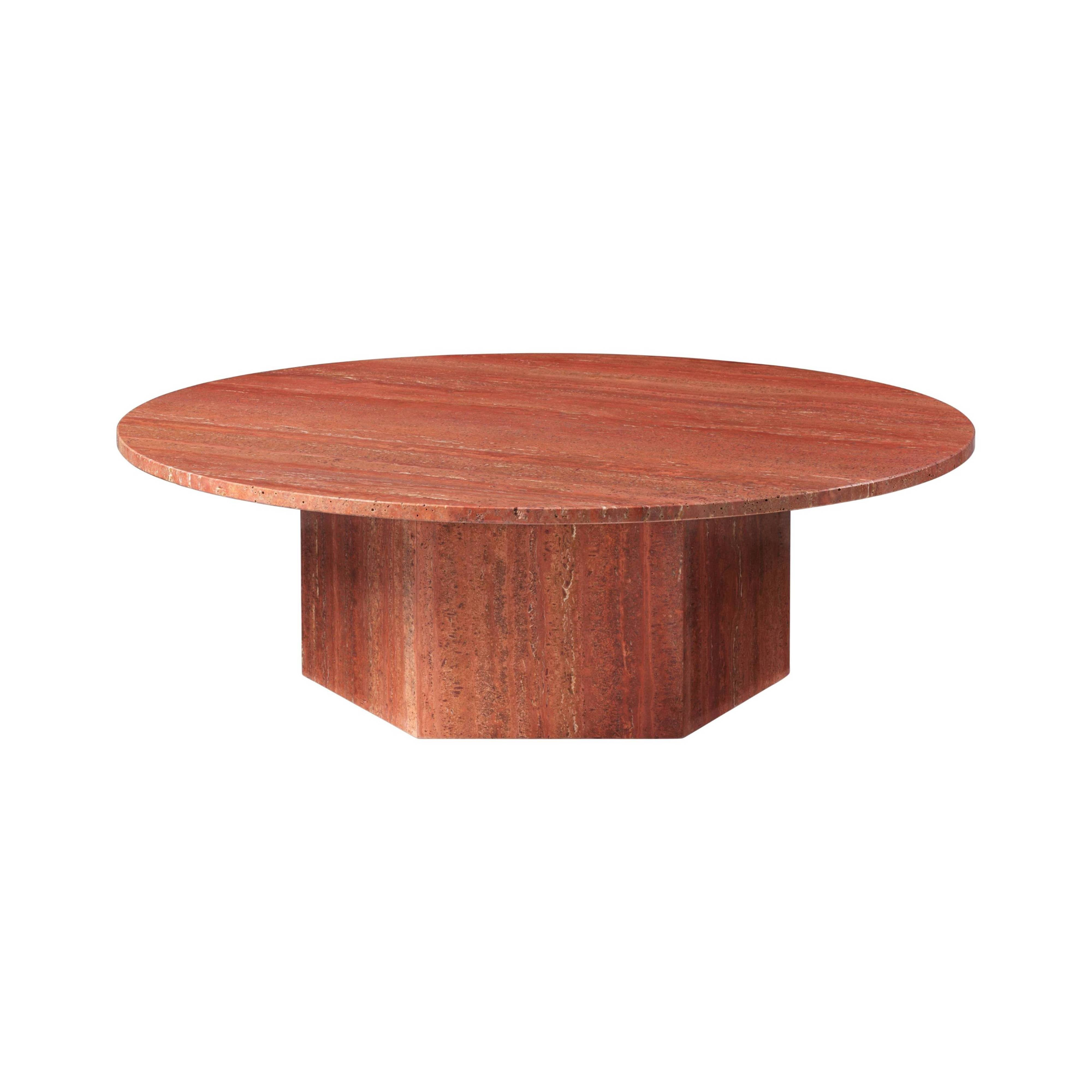 Epic Coffee Table: Round + Large + Red
