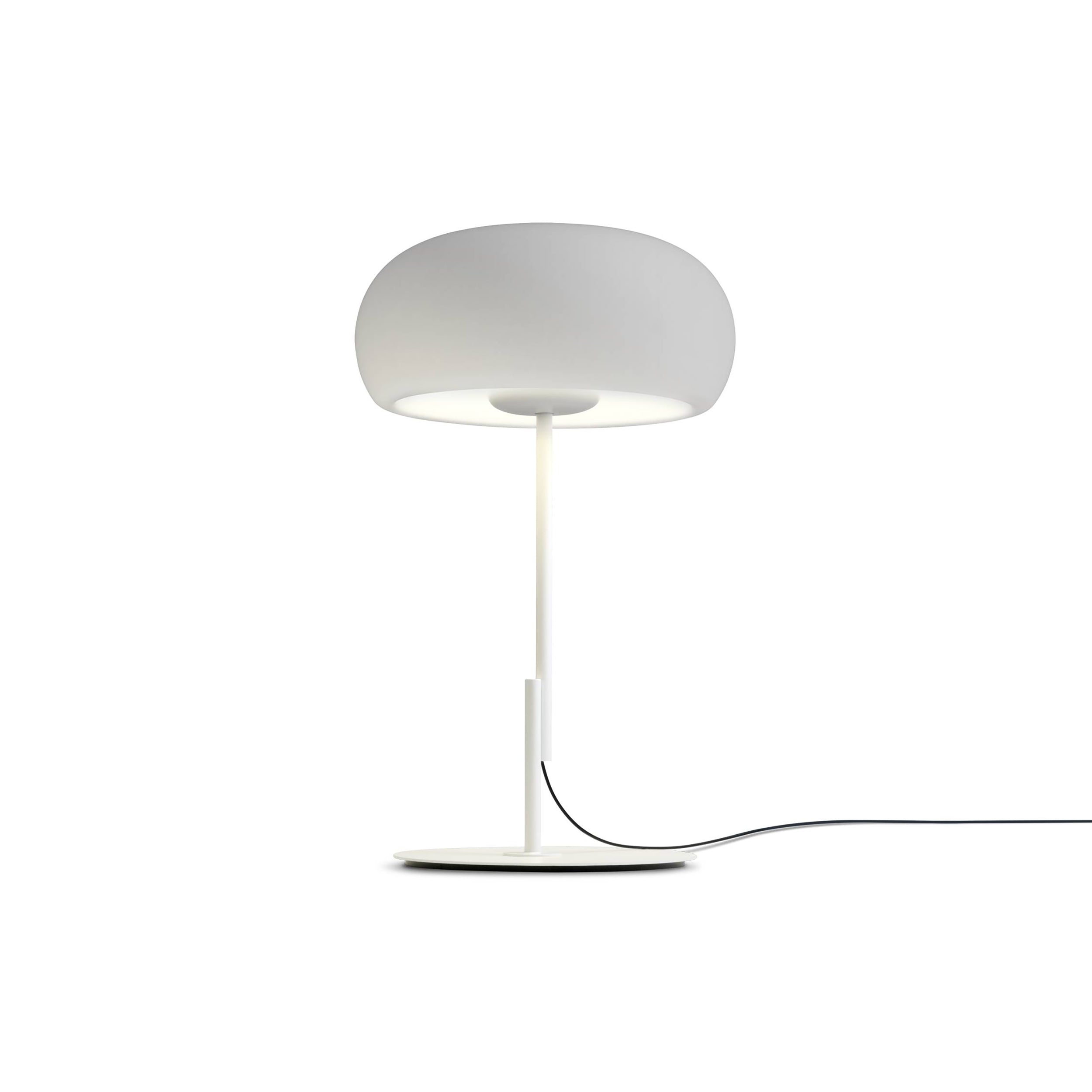 Vetra Table Lamp: White