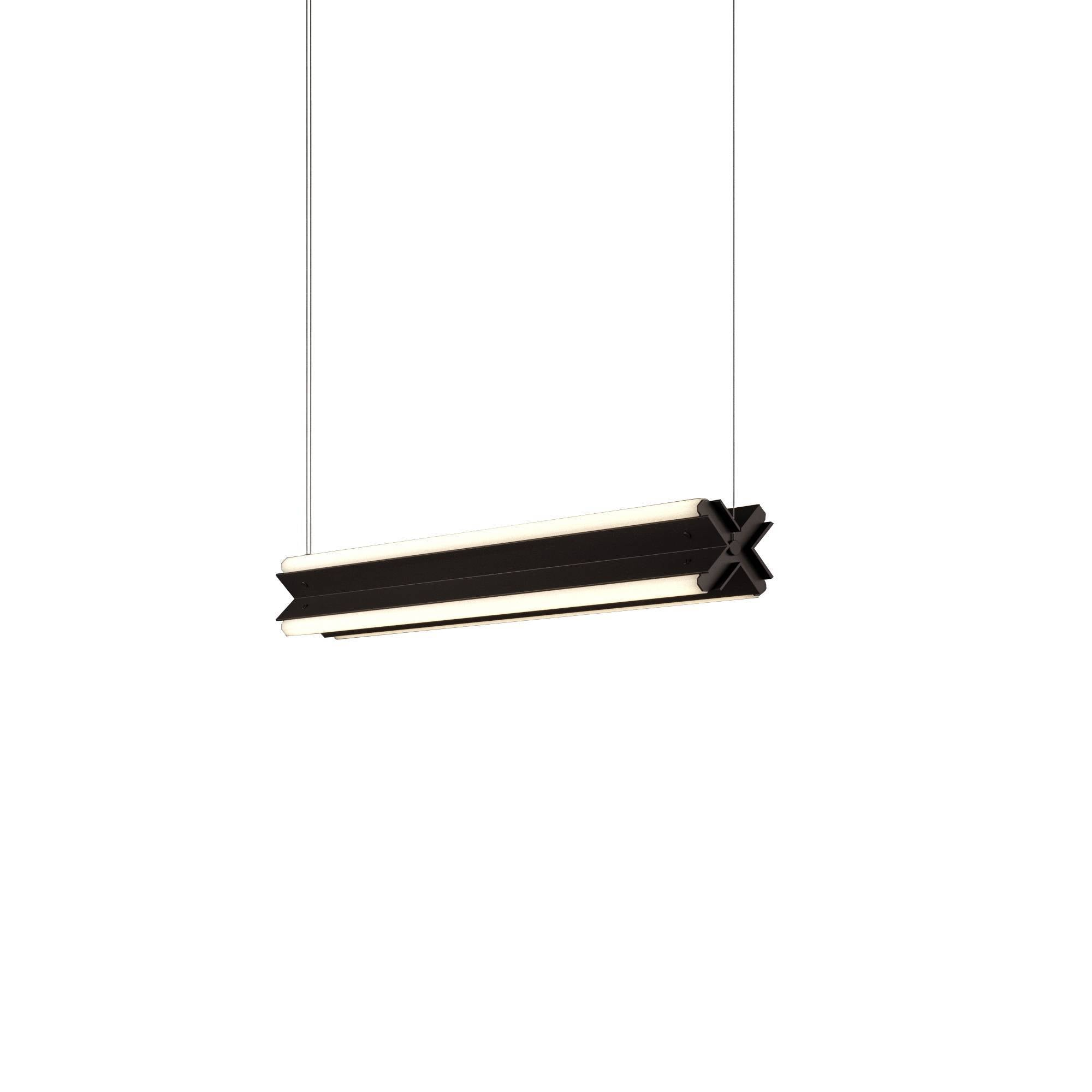 "Axis X Suspension Light: 36"" + Black Oxide + Horizontal"