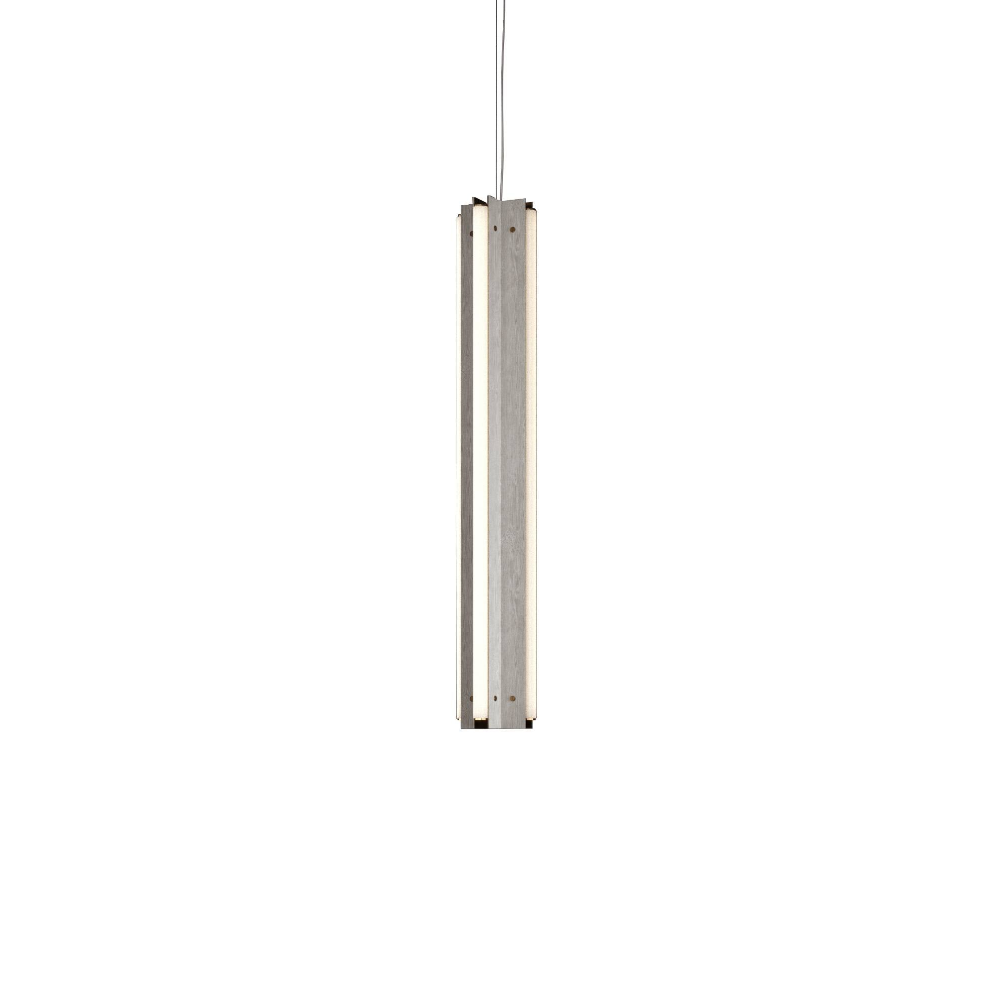 "Axis X Suspension Light: 36"" + Grey Stained Ash + Vertical"