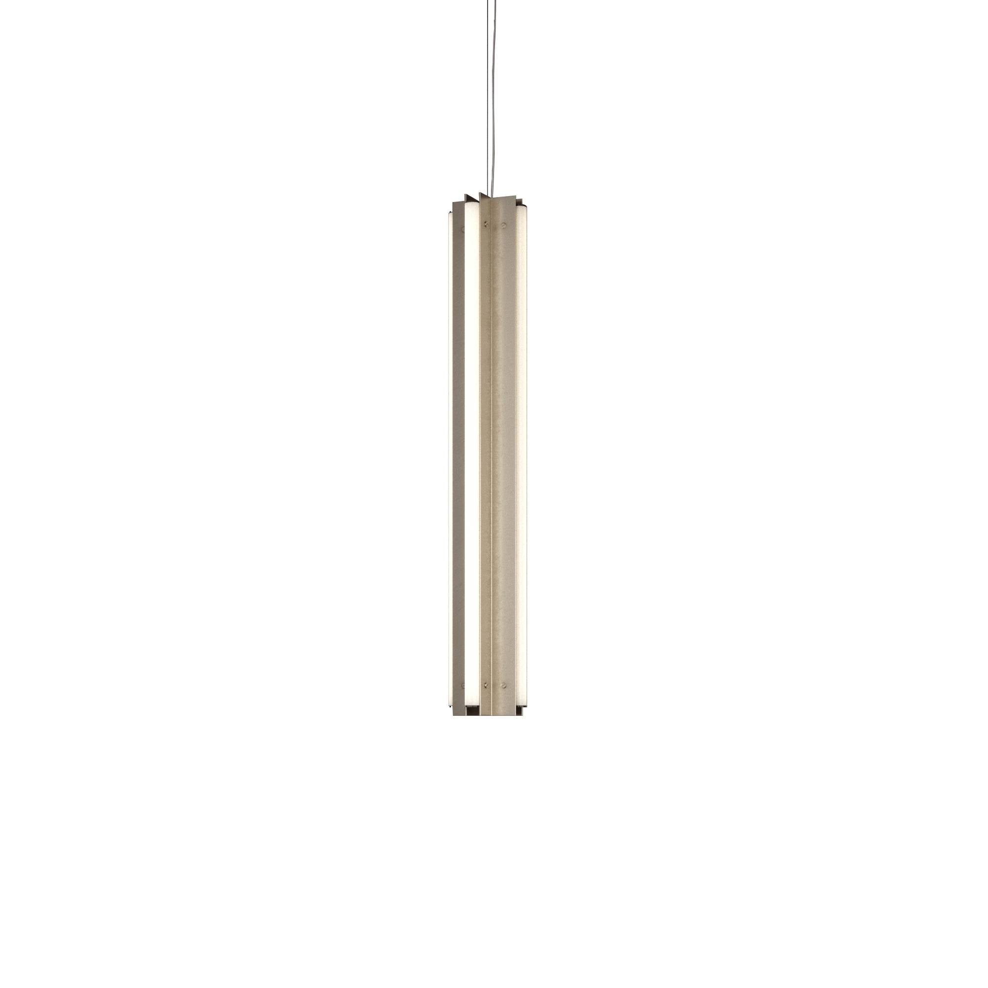 "Axis X Suspension Light: 36"" + Antique Pewter + Vertical"