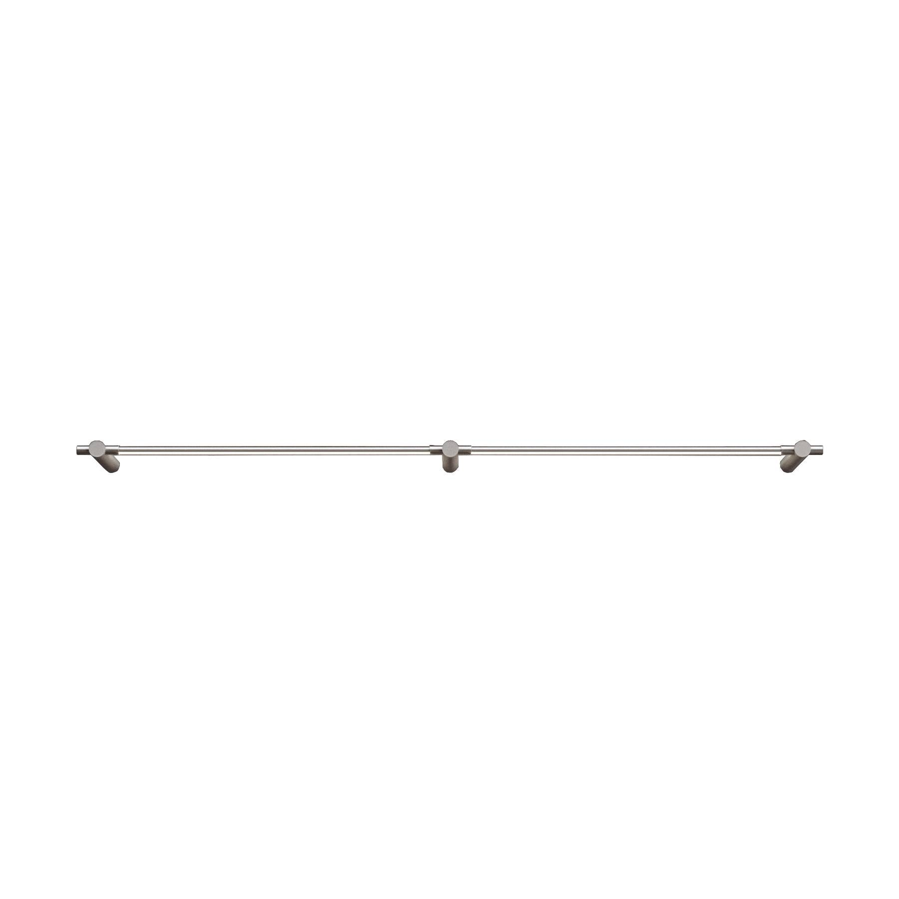"Thin Surface Mount: 2 Segments + 24"" + Satin Nickel"