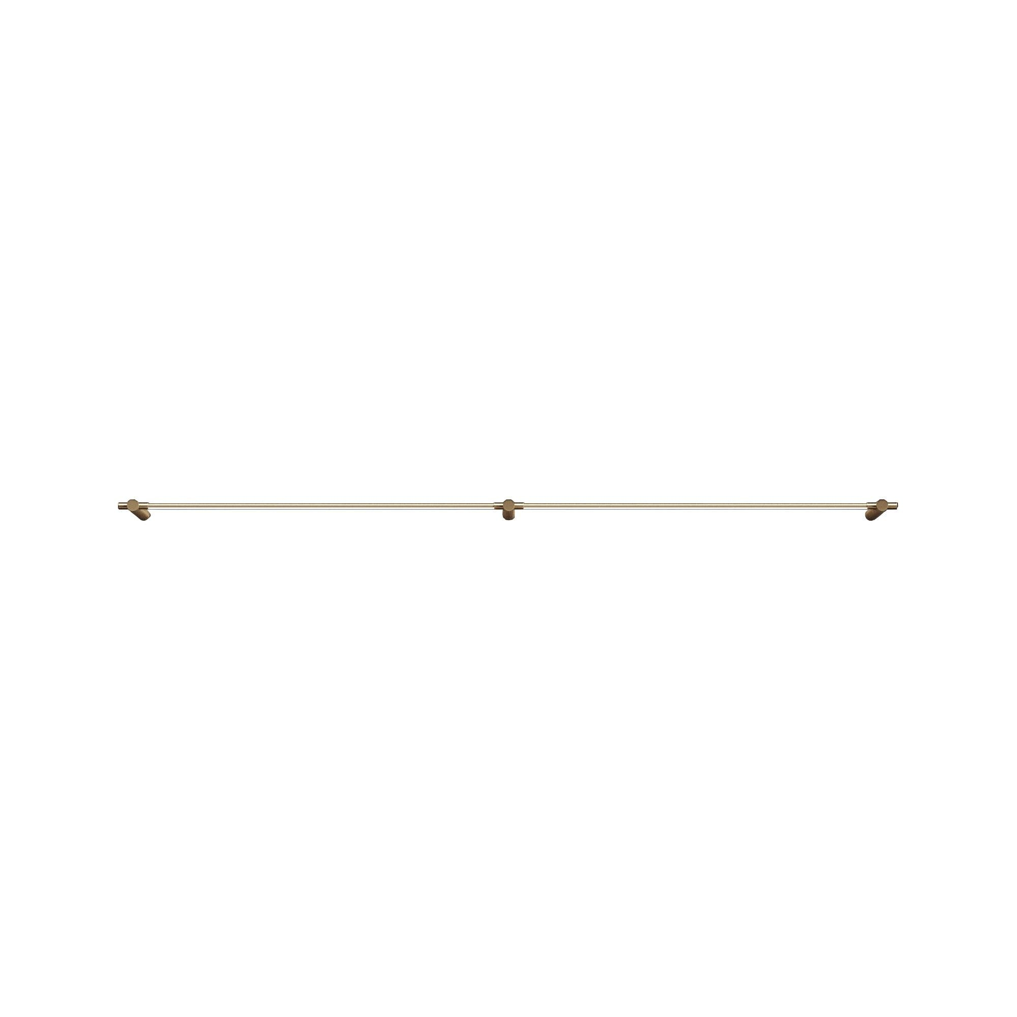 "Thin Surface Mount: 2 Segments + 36"" + Satin Brass"