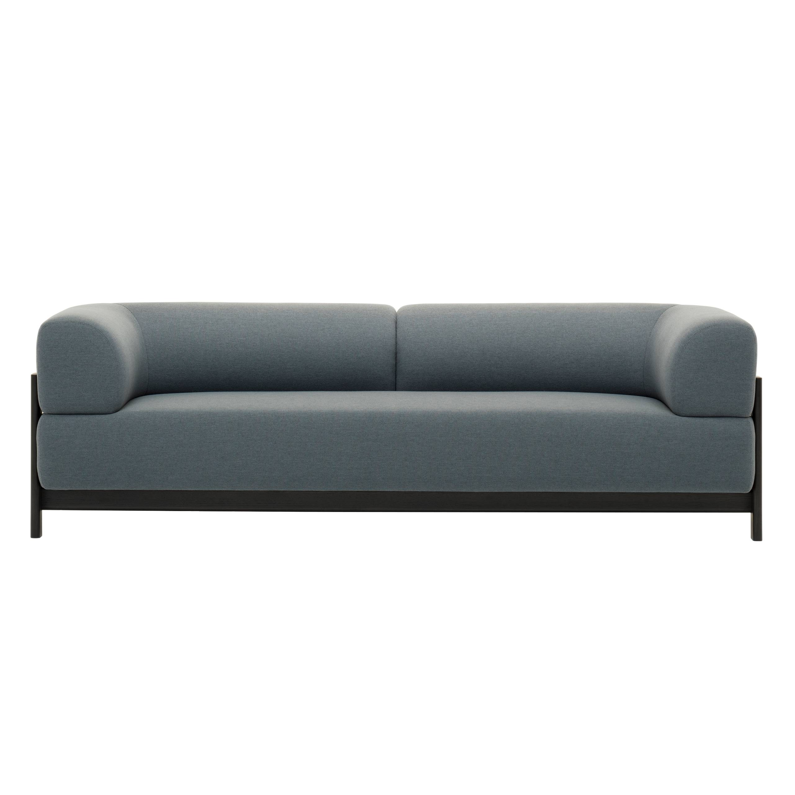 Elephant 3 Seater Sofa: Black Frame