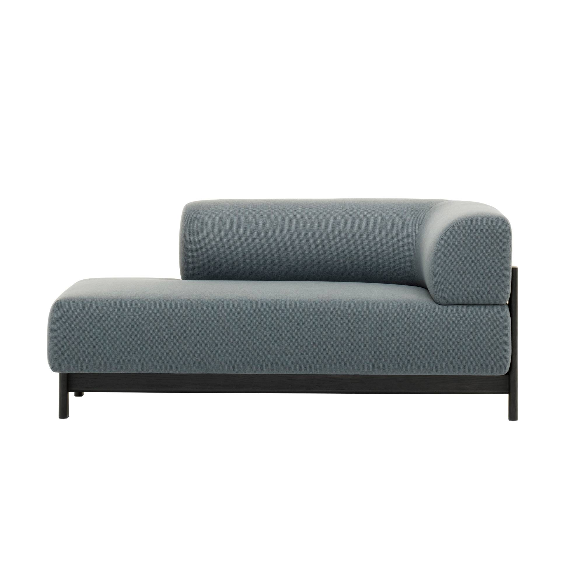 Elephant Chaise Lounge: Right Corner + Black Frame