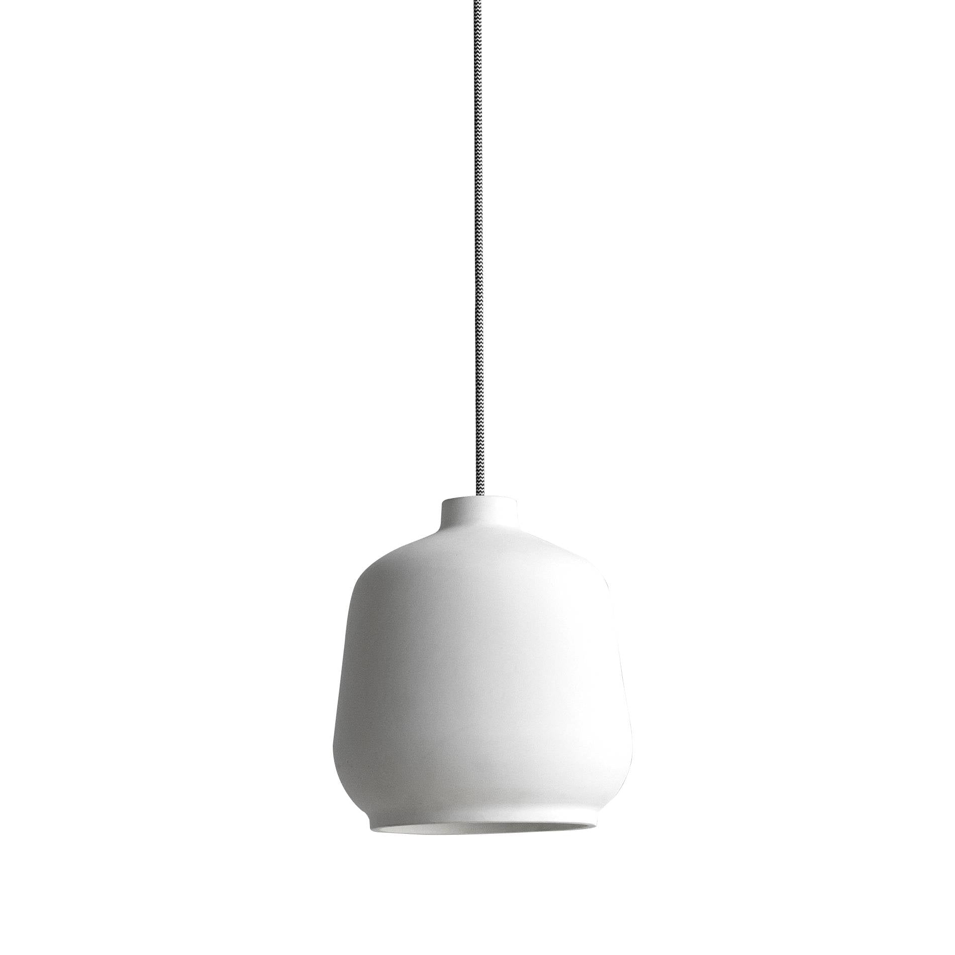 Kiki Pendant Lamp: White Ceramic
