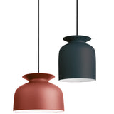 Ronde Pendant: Large + Redwood + Small + Soft Black