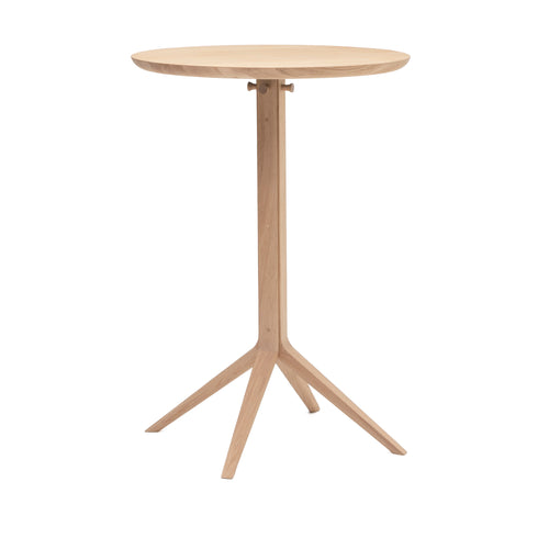Scout Bistro Bar Table: Pure Oak