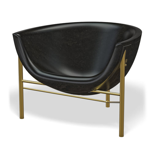 Kosmos Chair with Adjustable Heating: Brass + Charcoal