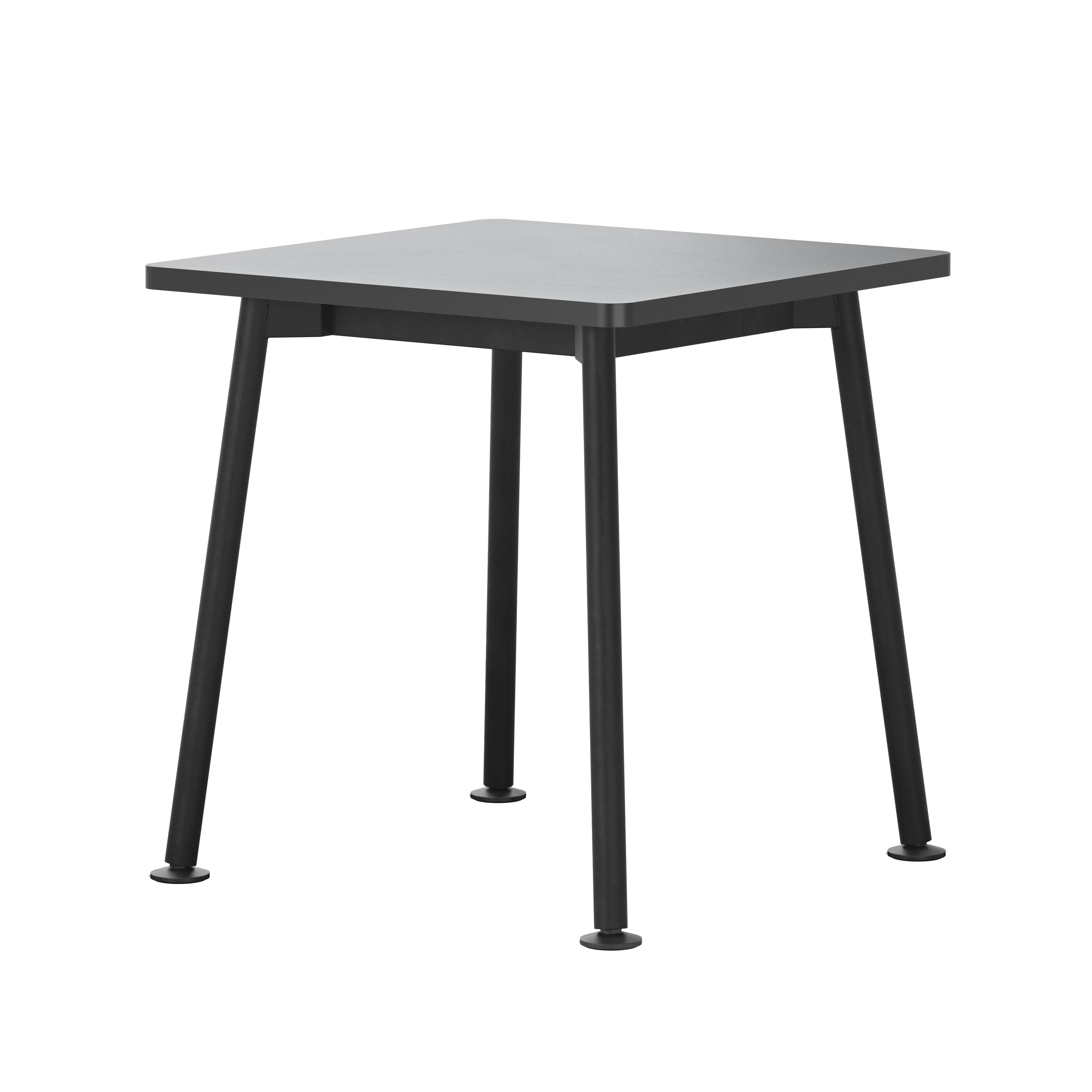 Landa Table: Square + Black Laminate