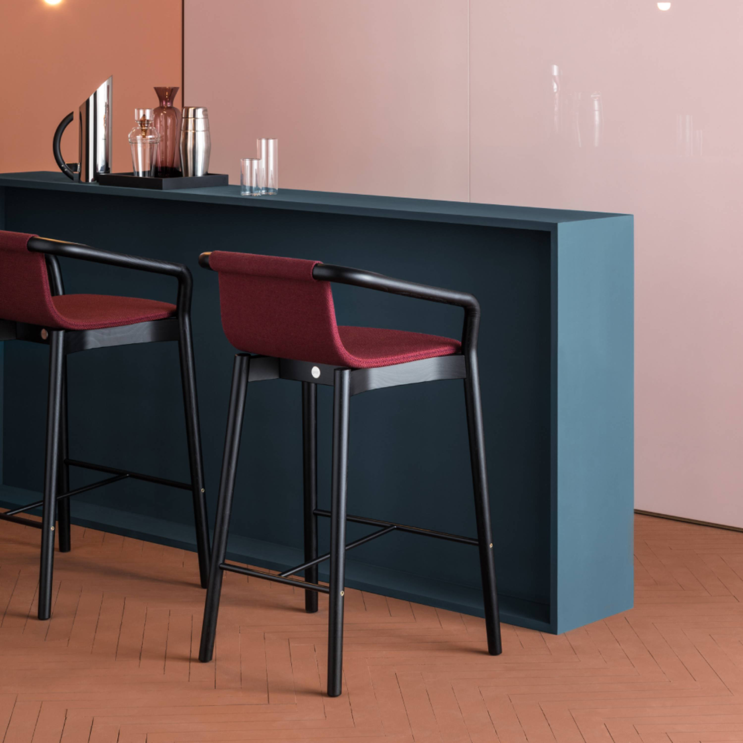 Thomas Bar Stool: Upholstered