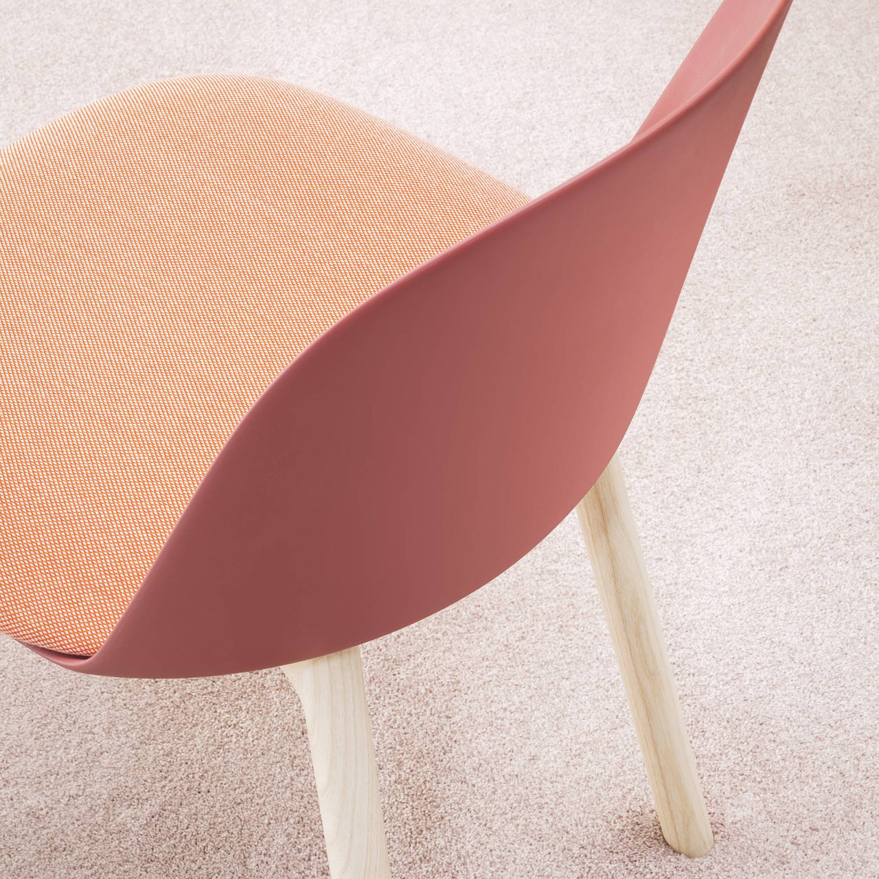 Mariolina Side Chair: Wood Base + Upholstery