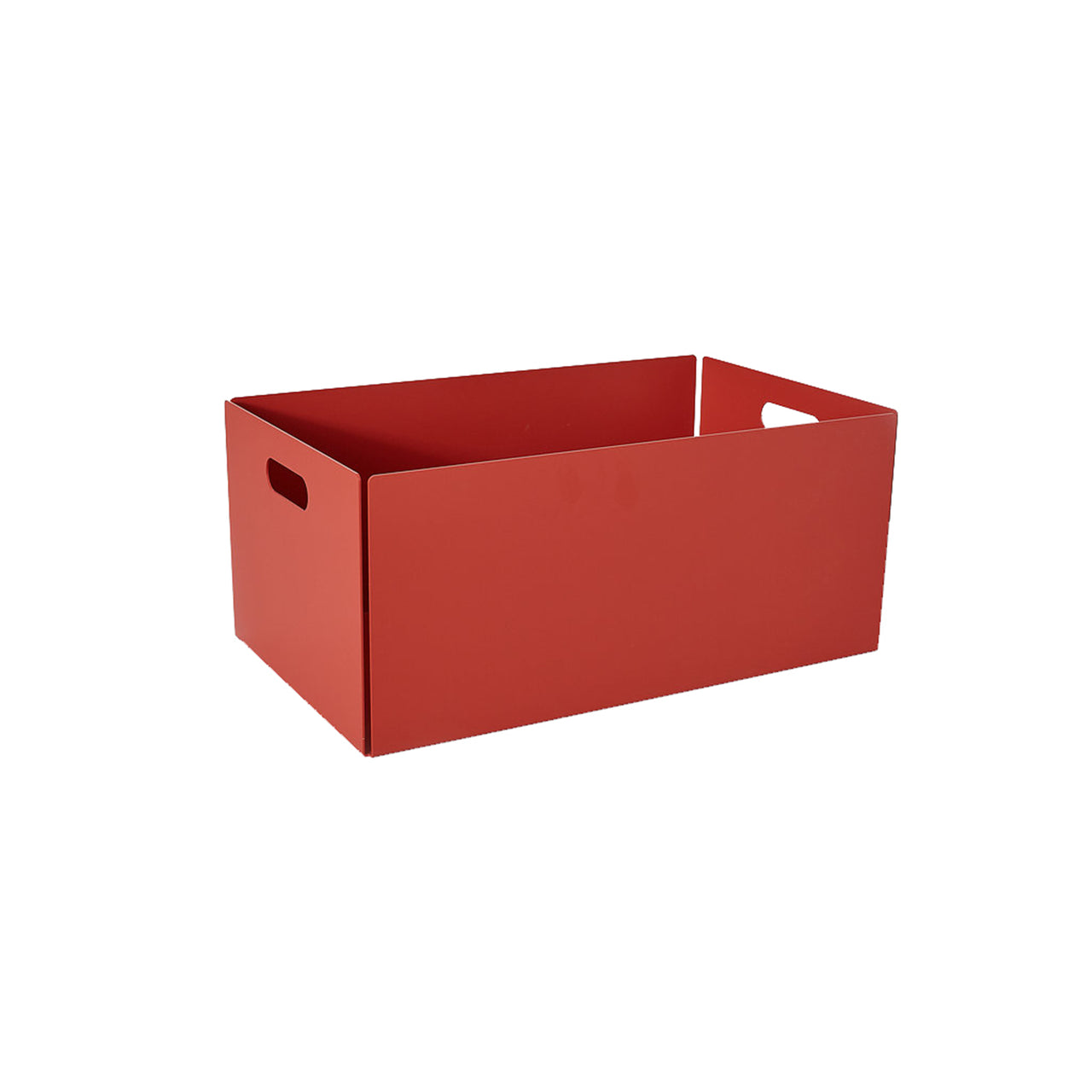 Metal Dowel Basket: Large + Coral Red