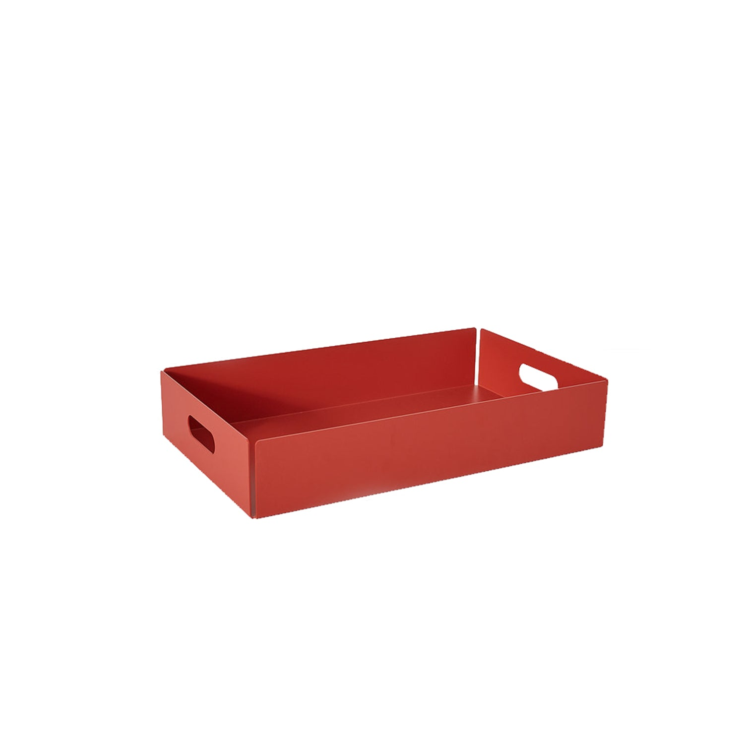 Metal Dowel Basket: Small + Coral Red