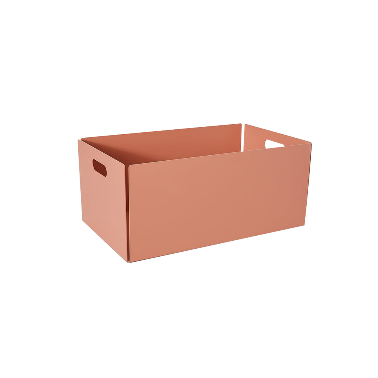 Metal Dowel Basket: Large + Beige Red