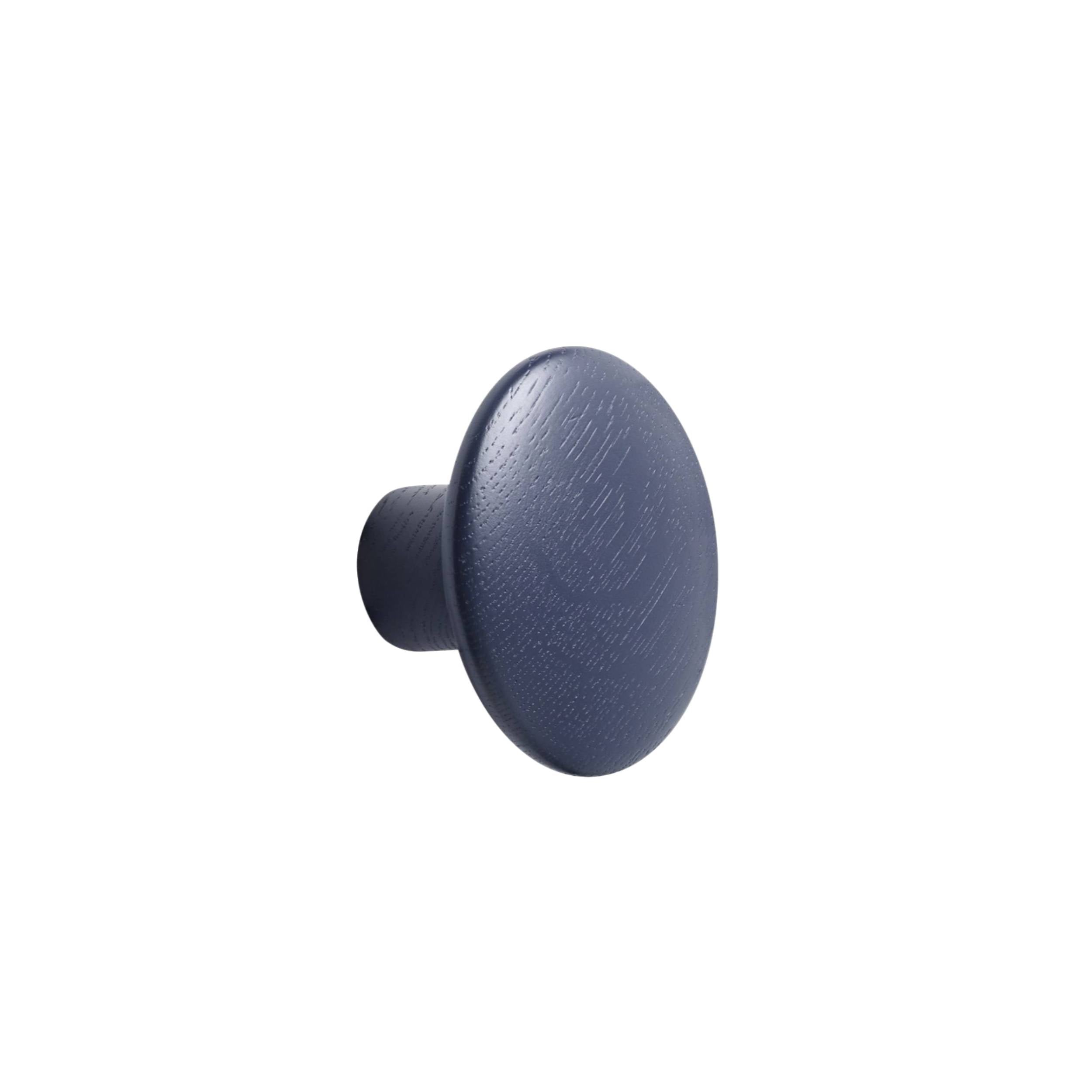 The Dots Wall Hooks: Midnight Blue + Small