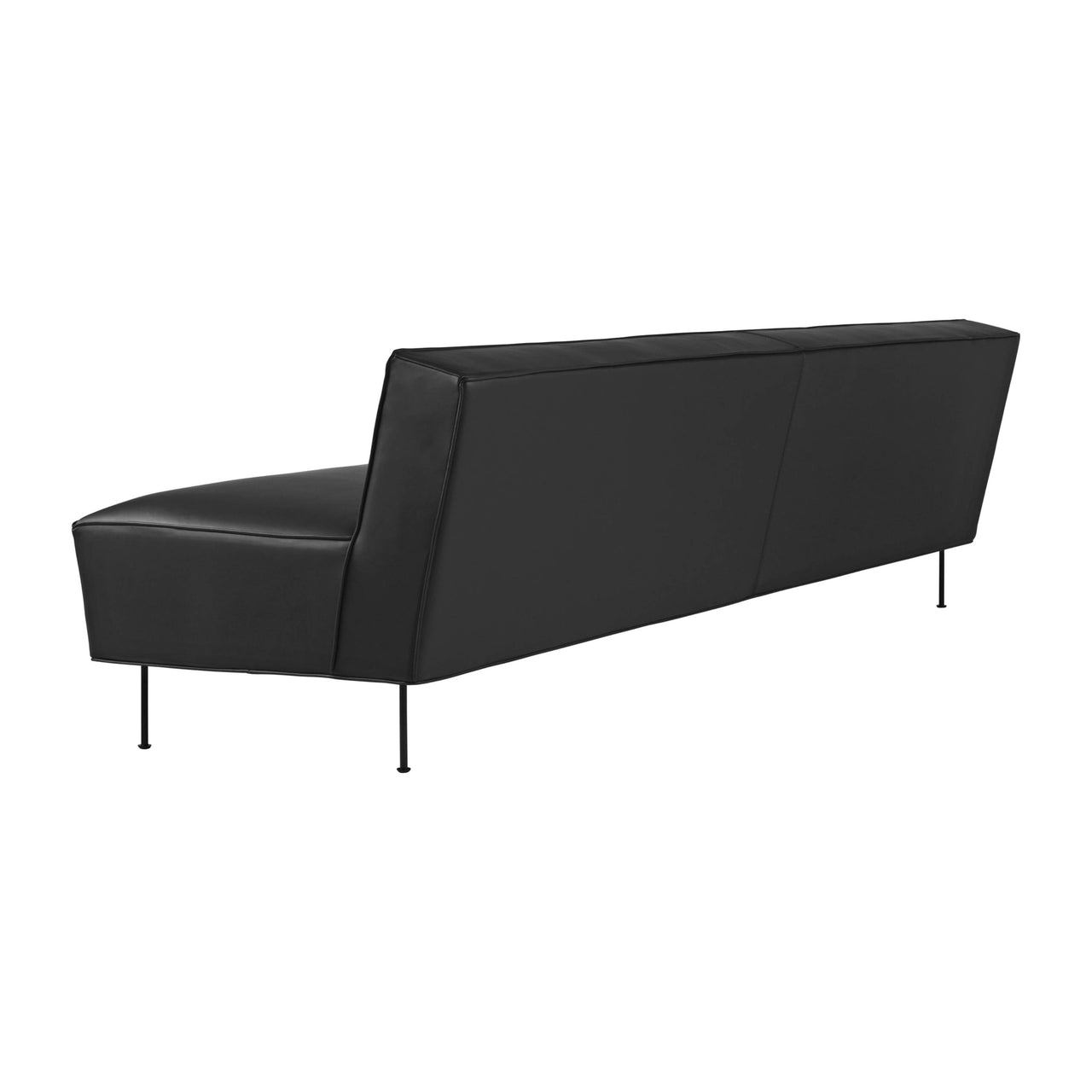 Modern Line Sofa: Medium + Black Leg Finish