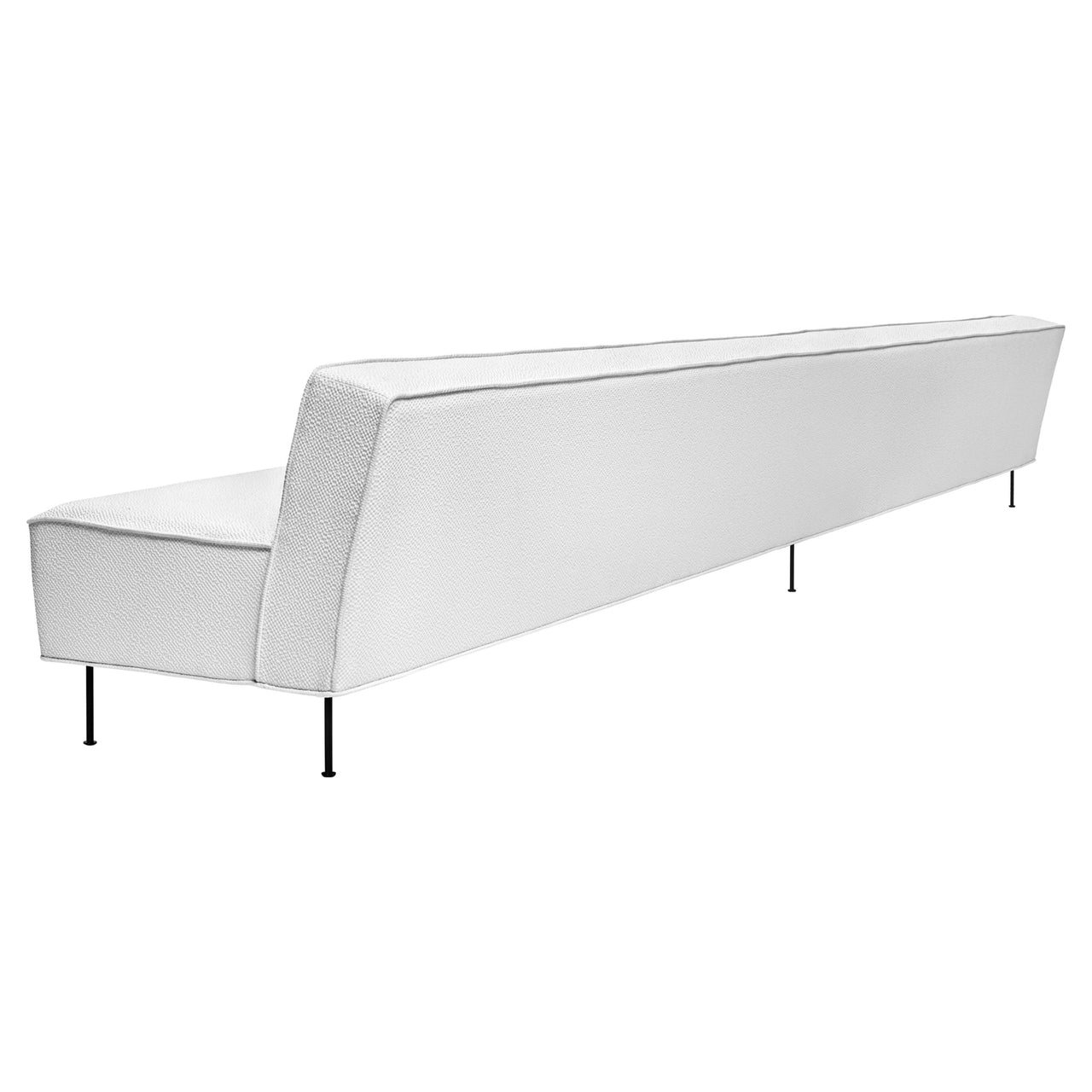 Modern Line Sofa: Large + Black Leg Finish
