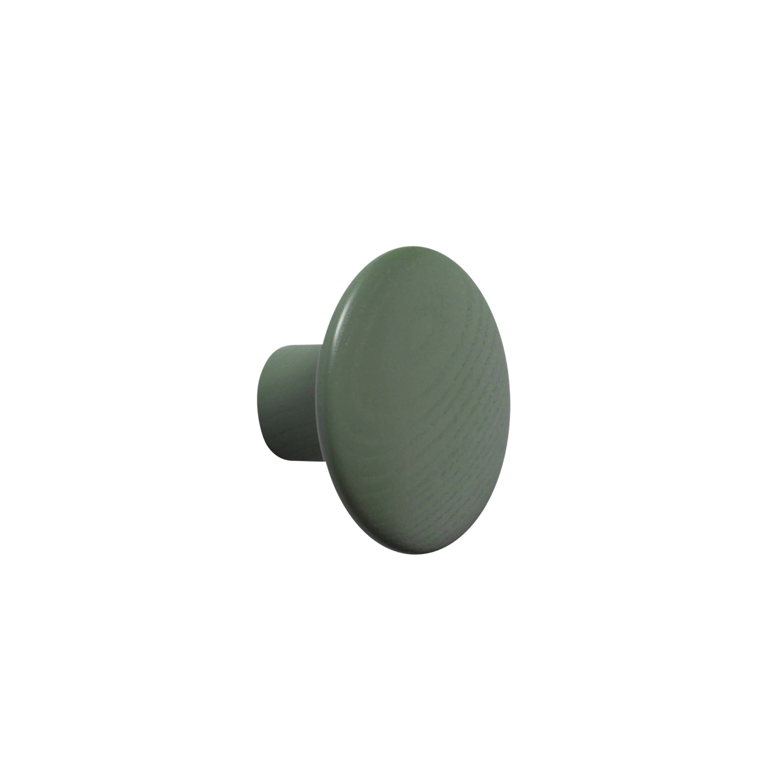 The Dots Wall Hooks: Dusty Green + Small