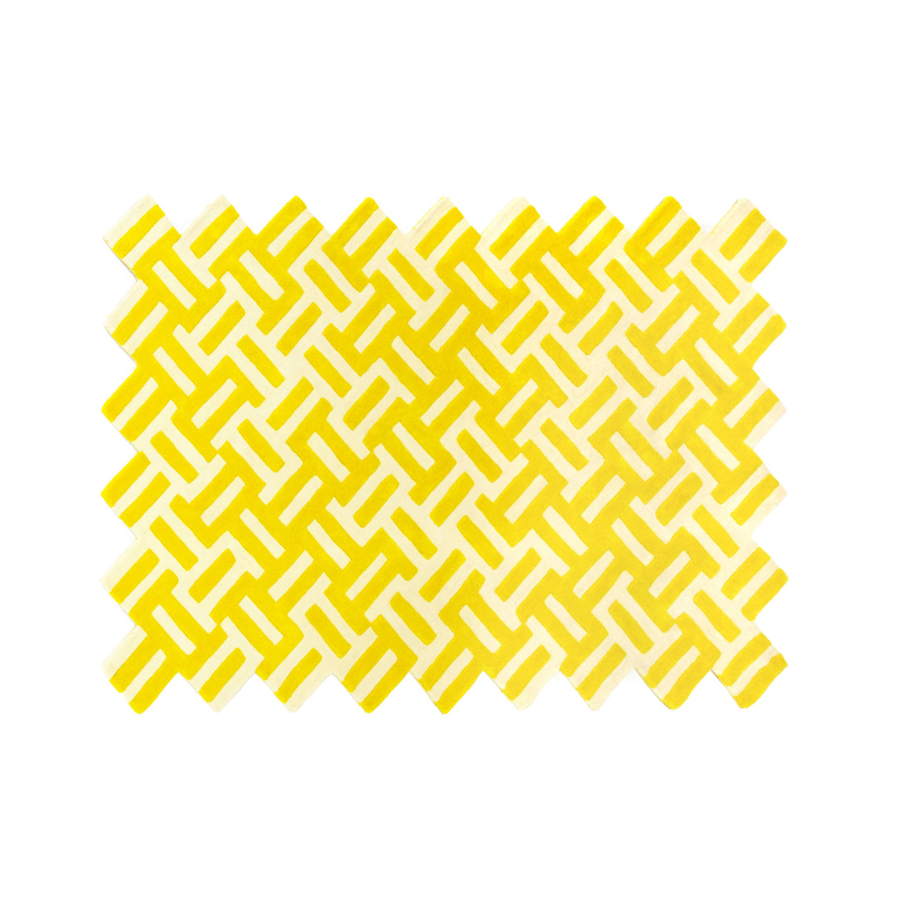Cross Rug: Yellow + White