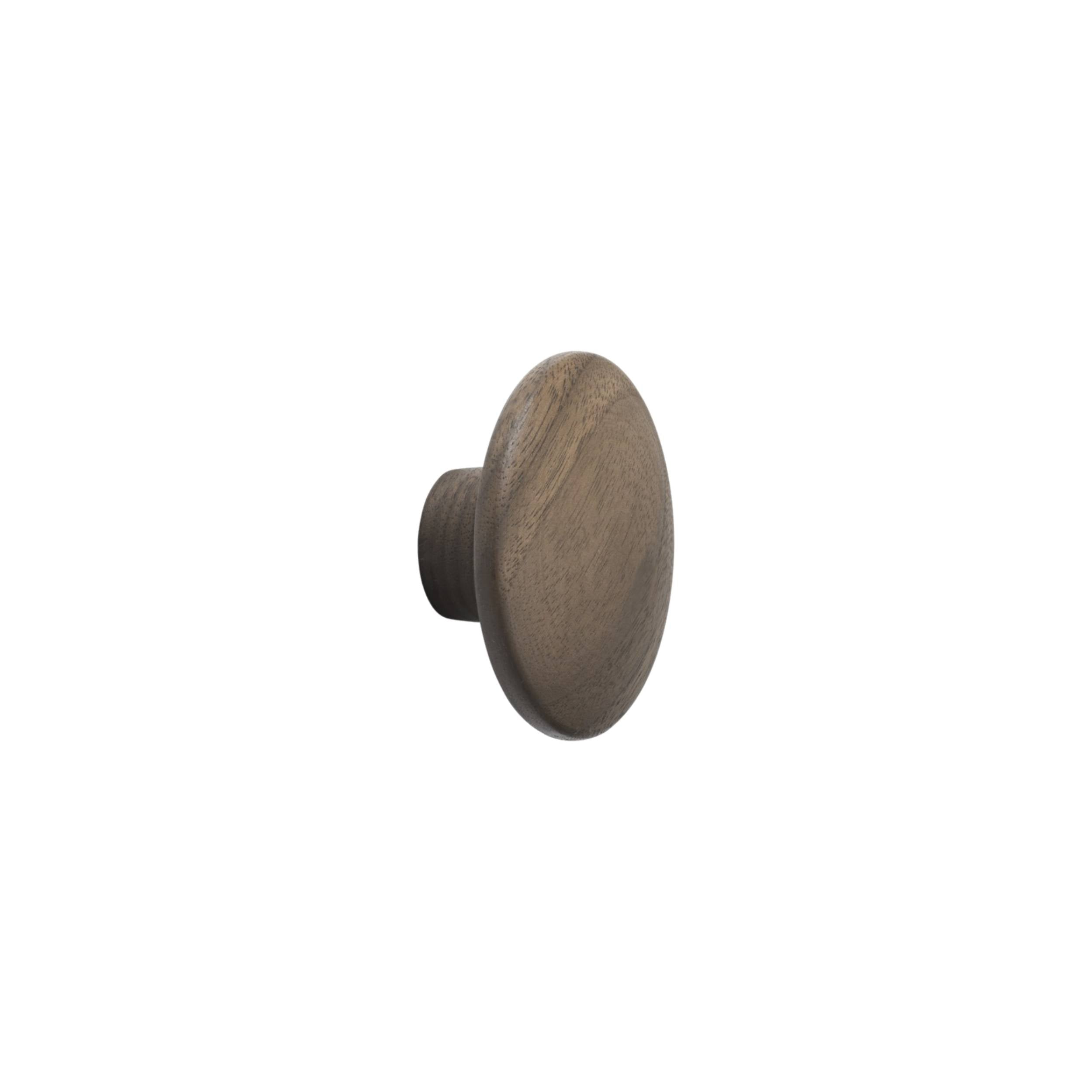 The Dots Wall Hooks: Walnut + Extra Small
