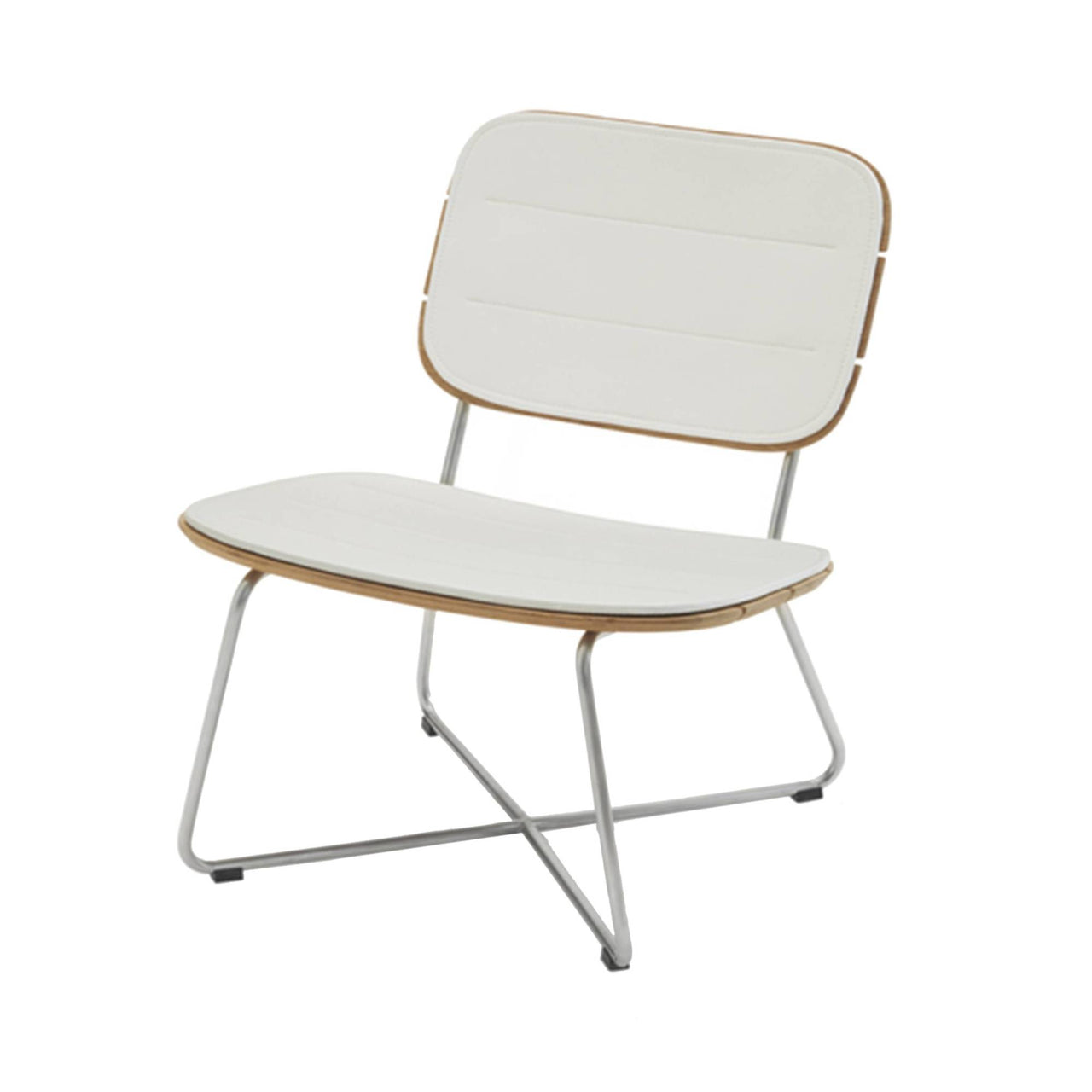 Lilium Lounge Chair: Lilium Lounge Chair + Cushion - White