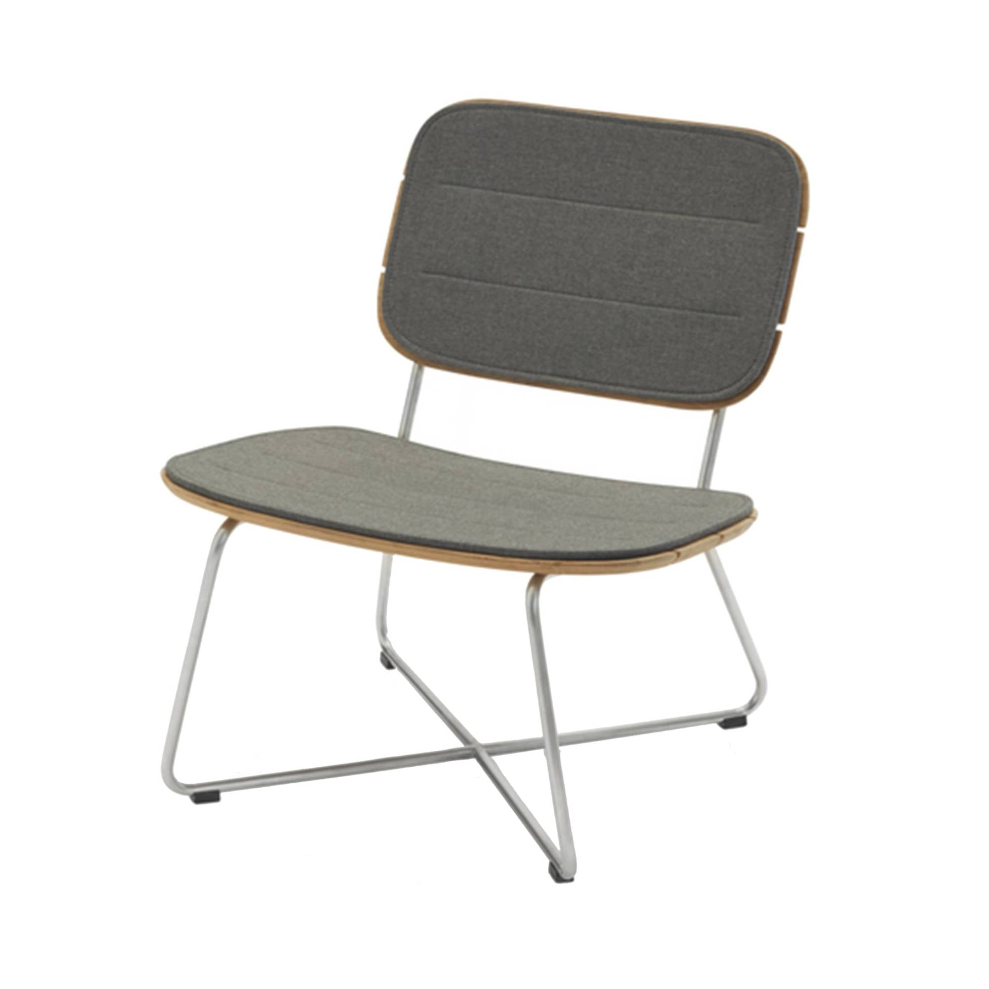 Lilium Lounge Chair: Lilium Lounge Chair + Cushion - Charcoal
