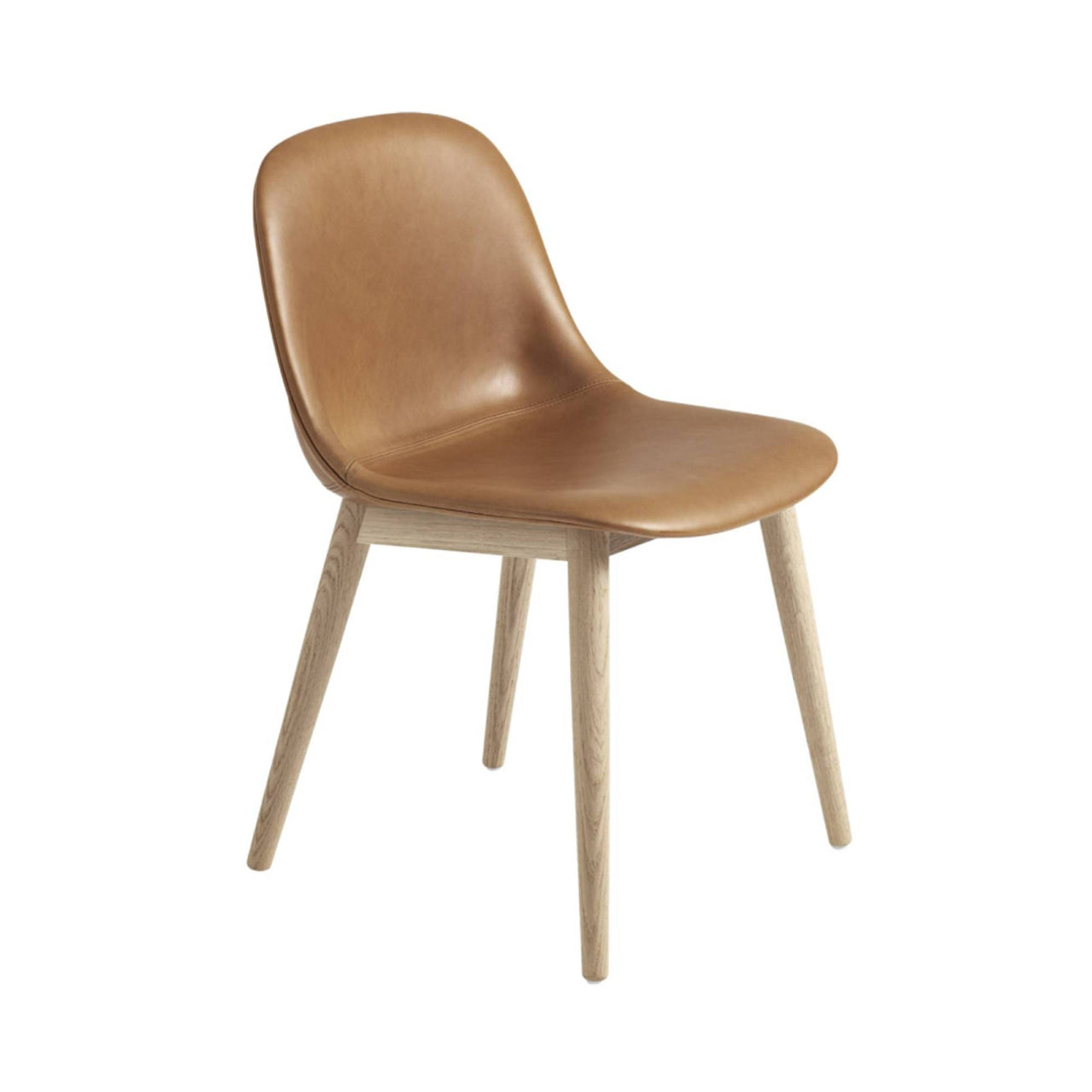 Fiber Side Chair: Wood Base Upholstered