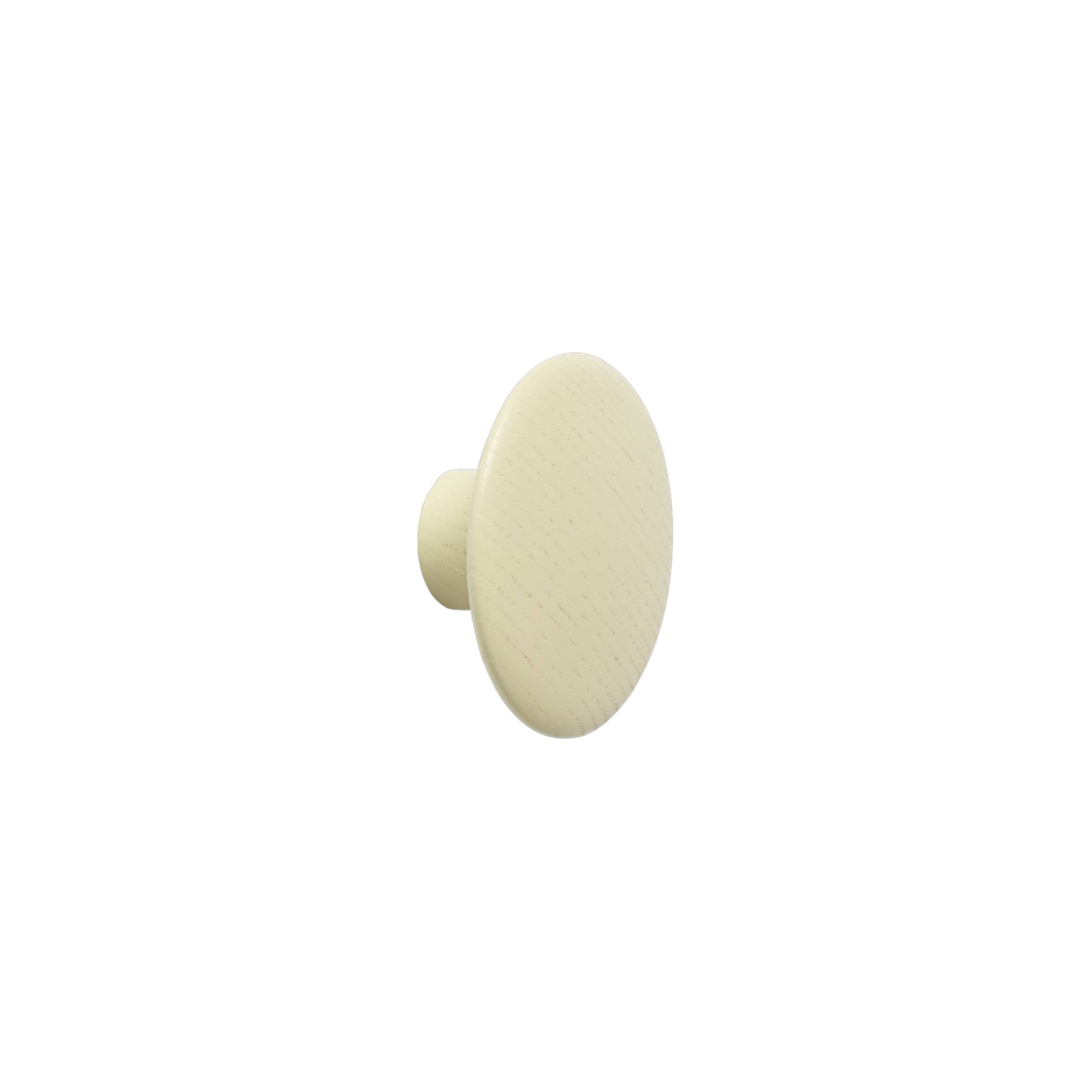 The Dots Wall Hooks: Beige-Green + Extra Small