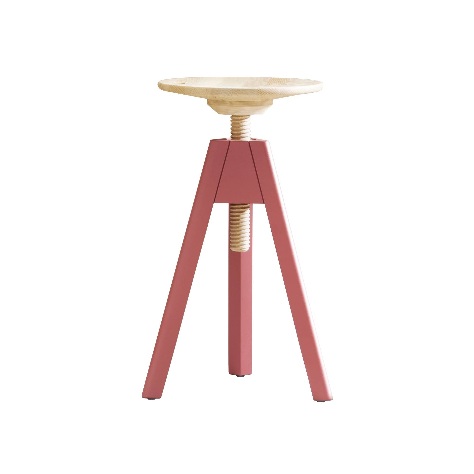 Vitos Stool: Medium + Marsala Red
