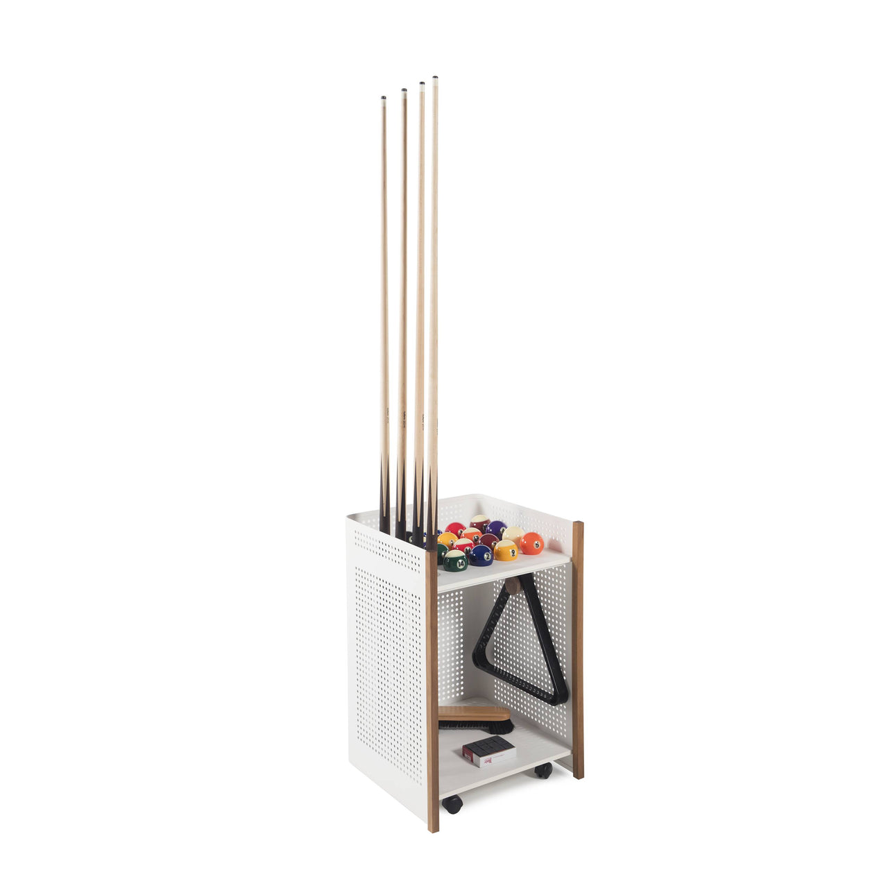 Diagonal Outdoor Floor Cue Rack: White