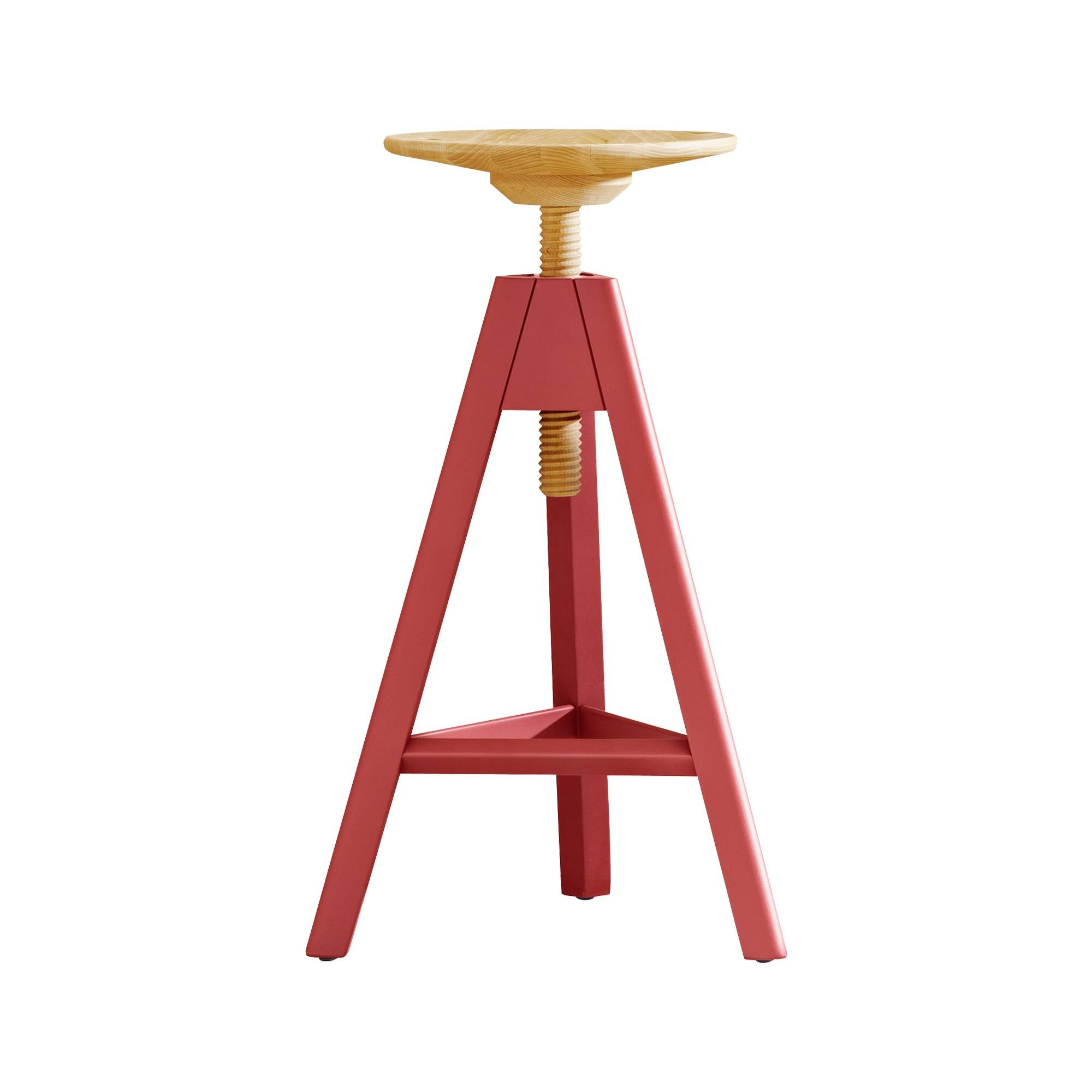 Vitos Stool: High + Marsala Red