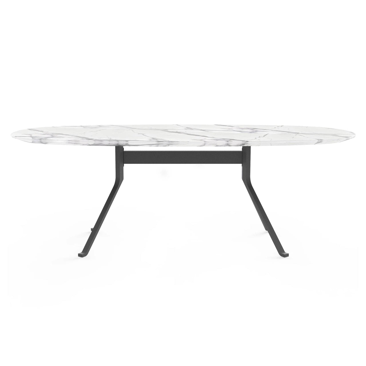 Blink Oval Dining Table: Stone Top